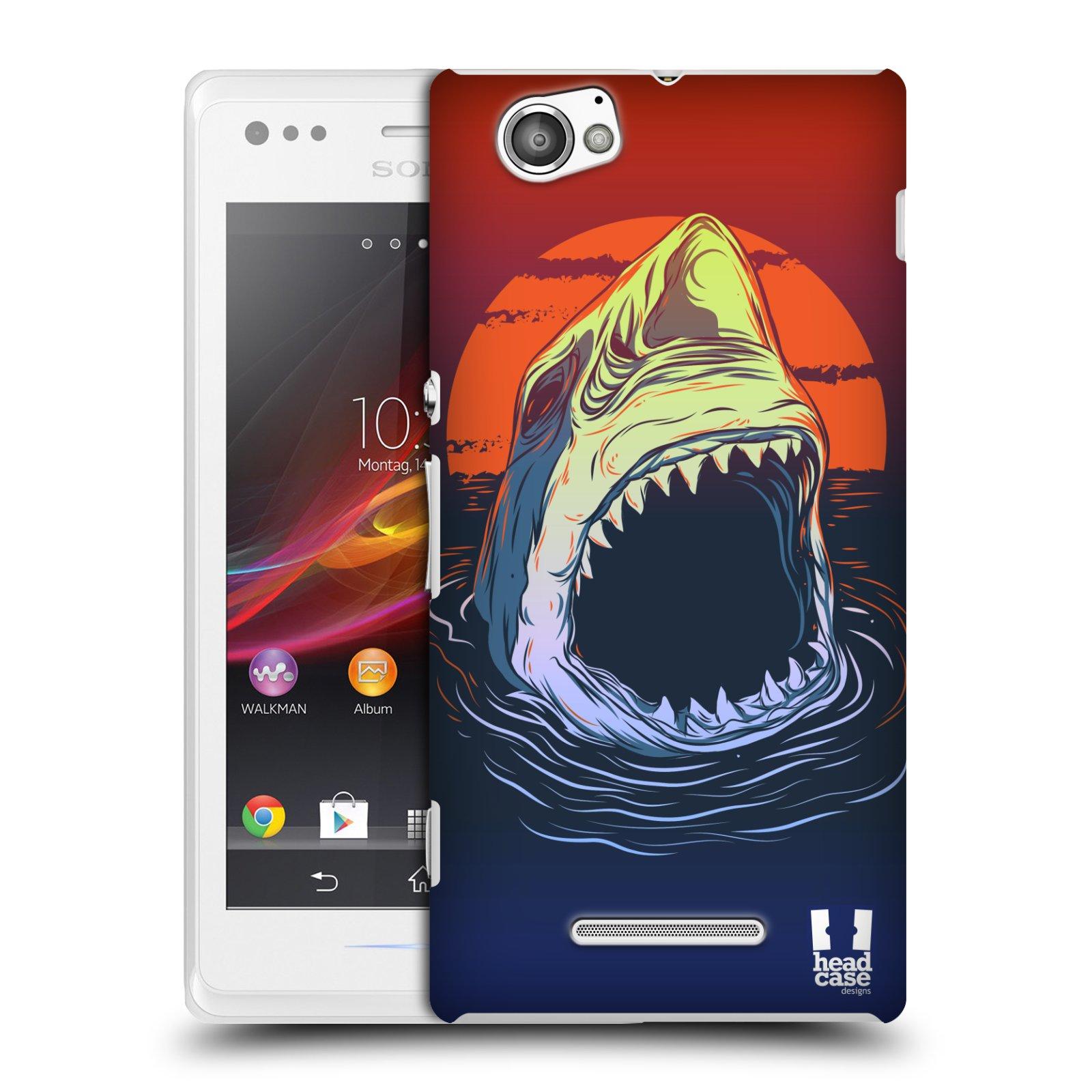 Plastové pouzdro na mobil Sony Xperia M C1905 HEAD CASE HLADOVÝ ŽRALOK (Kryt či obal na mobilní telefon Sony Xperia M a M Dual)