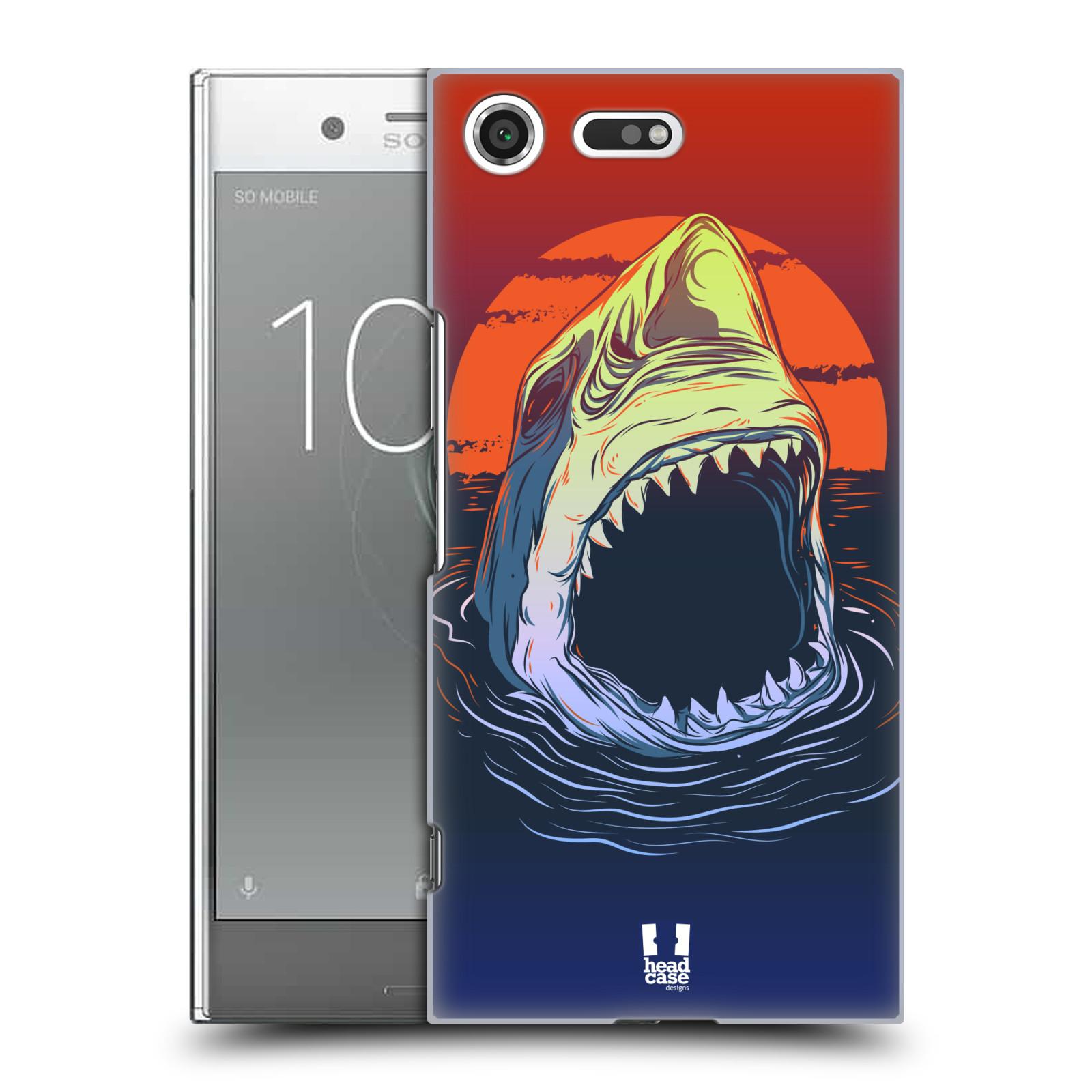 Plastové pouzdro na mobil Sony Xperia XZ Premium Head Case - HLADOVÝ ŽRALOK (Plastový kryt či obal na mobilní telefon Sony Xperia XZ Premium G8142)