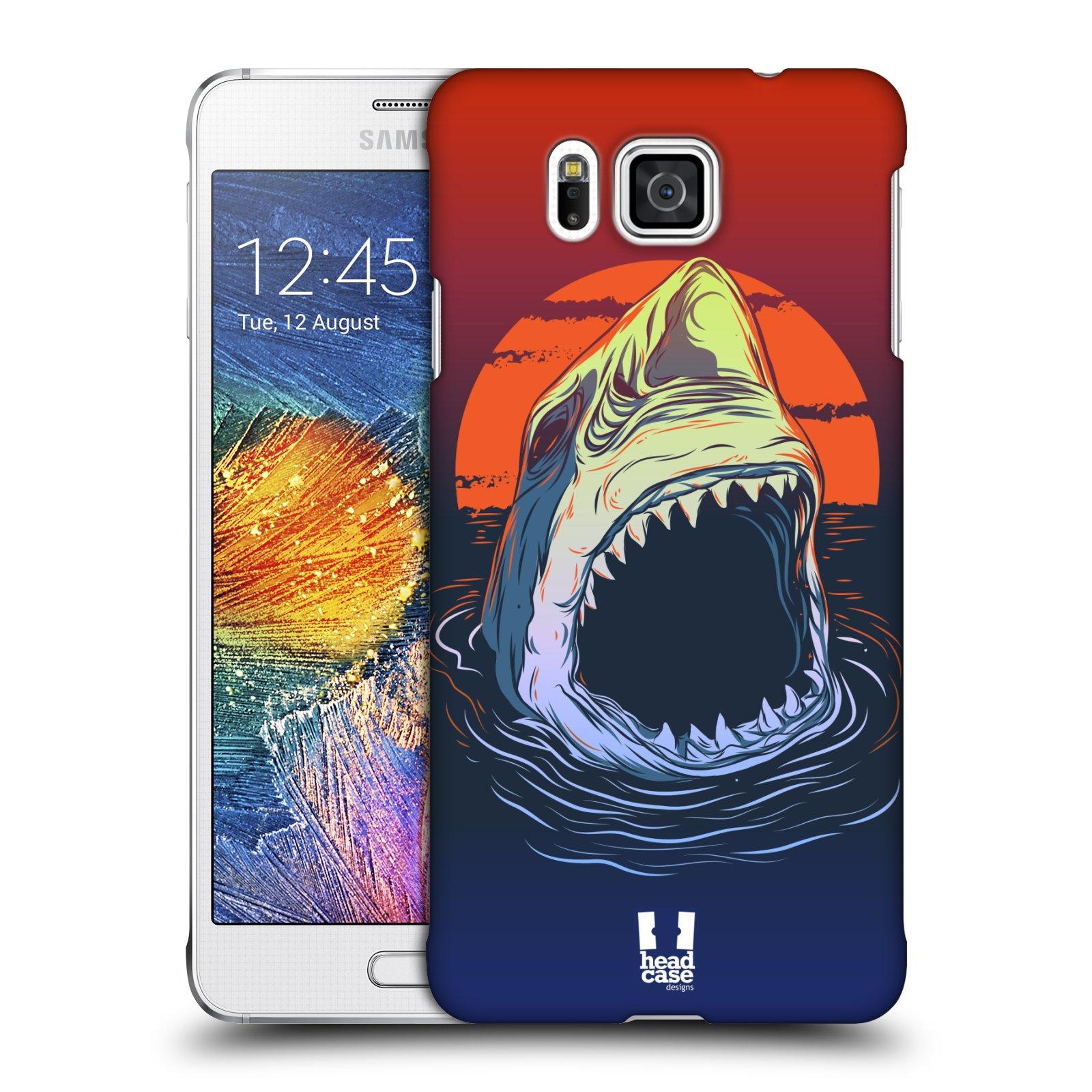 Plastové pouzdro na mobil Samsung Galaxy Alpha HEAD CASE HLADOVÝ ŽRALOK (Kryt či obal na mobilní telefon Samsung Galaxy Alpha SM-G850)