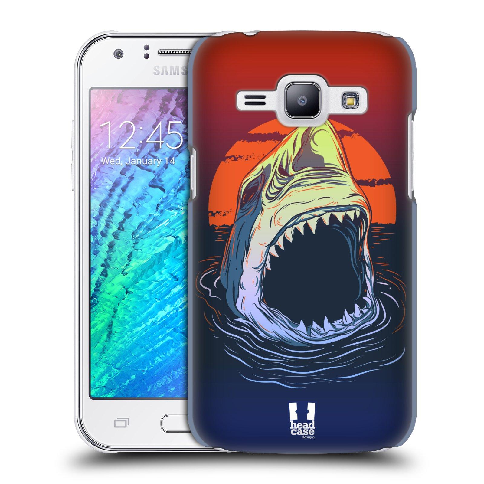 Plastové pouzdro na mobil Samsung Galaxy J1 HEAD CASE HLADOVÝ ŽRALOK (Kryt či obal na mobilní telefon Samsung Galaxy J1 a J1 Duos )