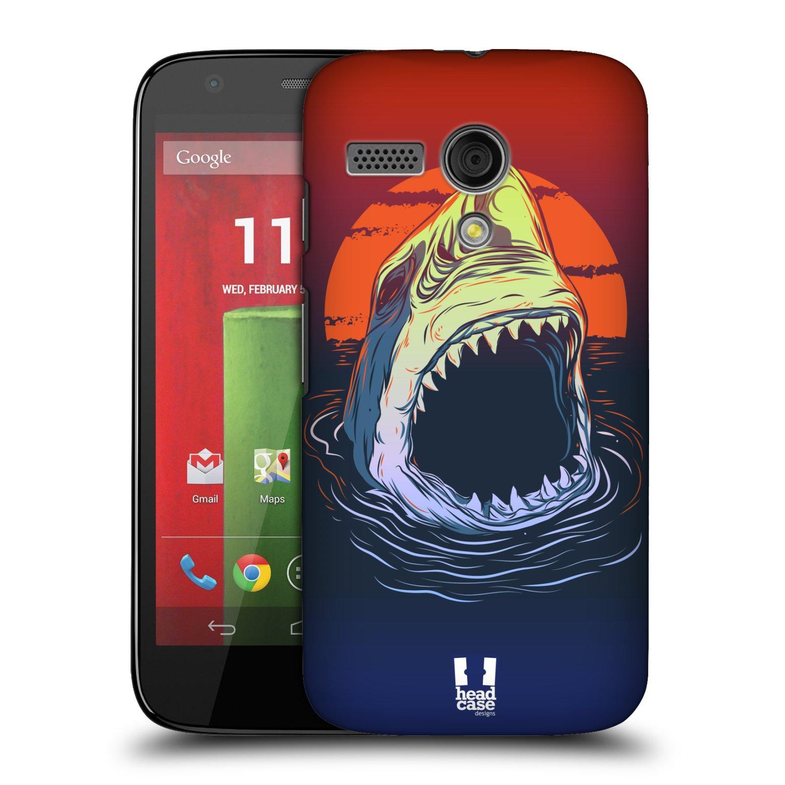 Plastové pouzdro na mobil Motorola Moto G HEAD CASE HLADOVÝ ŽRALOK (Kryt či obal na mobilní telefon Motorola Moto G)