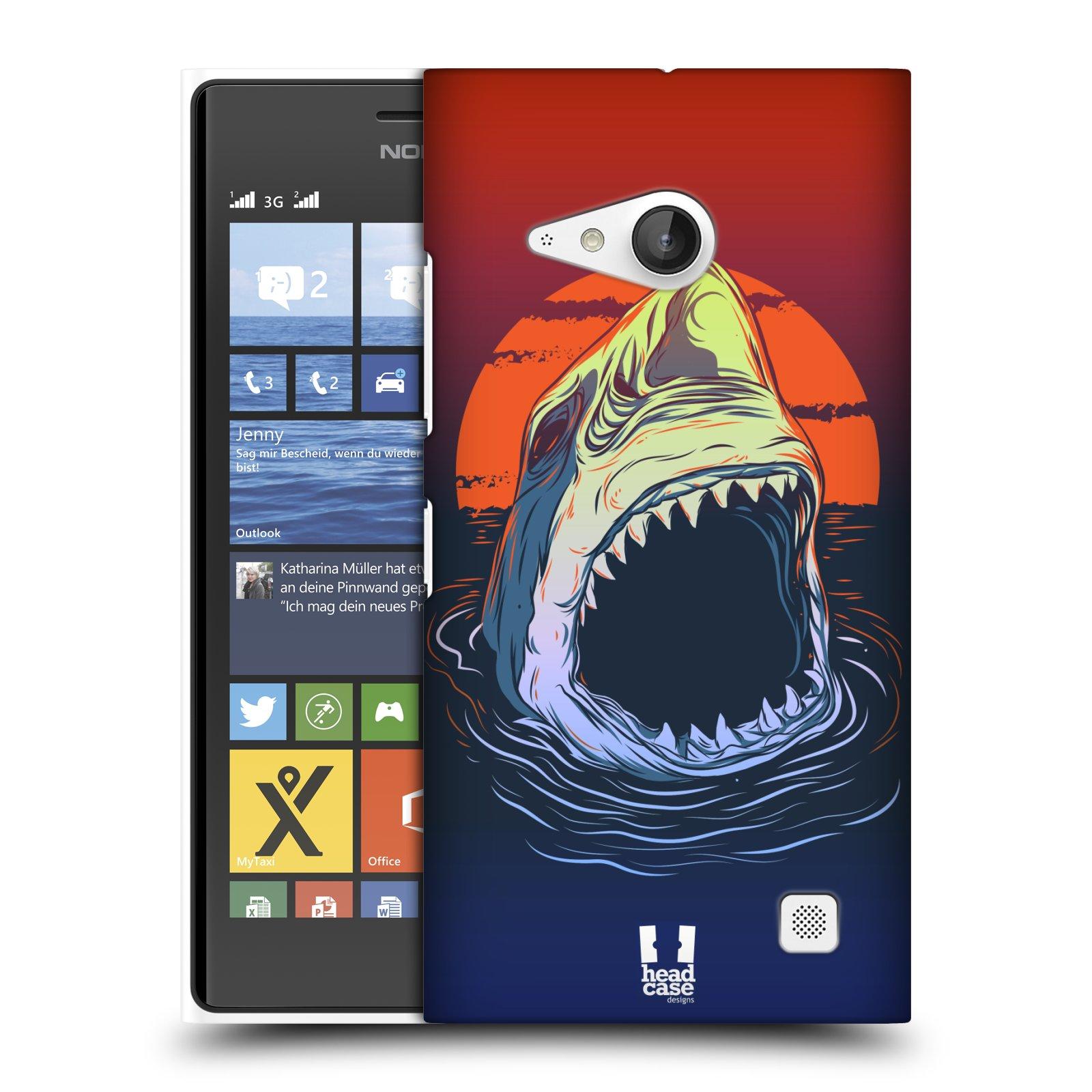 Plastové pouzdro na mobil Nokia Lumia 730 Dual SIM HEAD CASE HLADOVÝ ŽRALOK (Kryt či obal na mobilní telefon Nokia Lumia 730 Dual SIM)