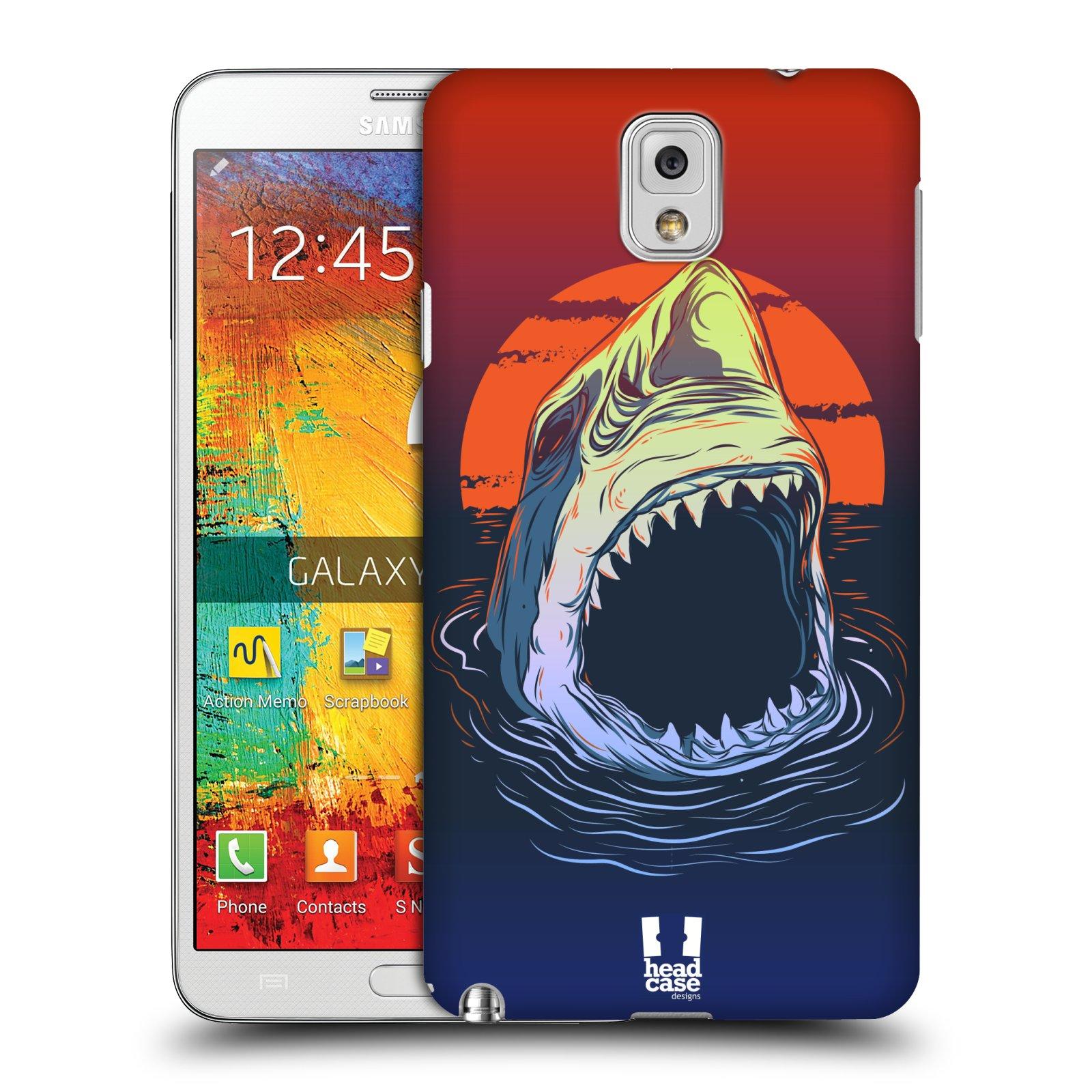 Plastové pouzdro na mobil Samsung Galaxy Note 3 HEAD CASE HLADOVÝ ŽRALOK (Kryt či obal na mobilní telefon Samsung Galaxy Note 3 SM-N9005)
