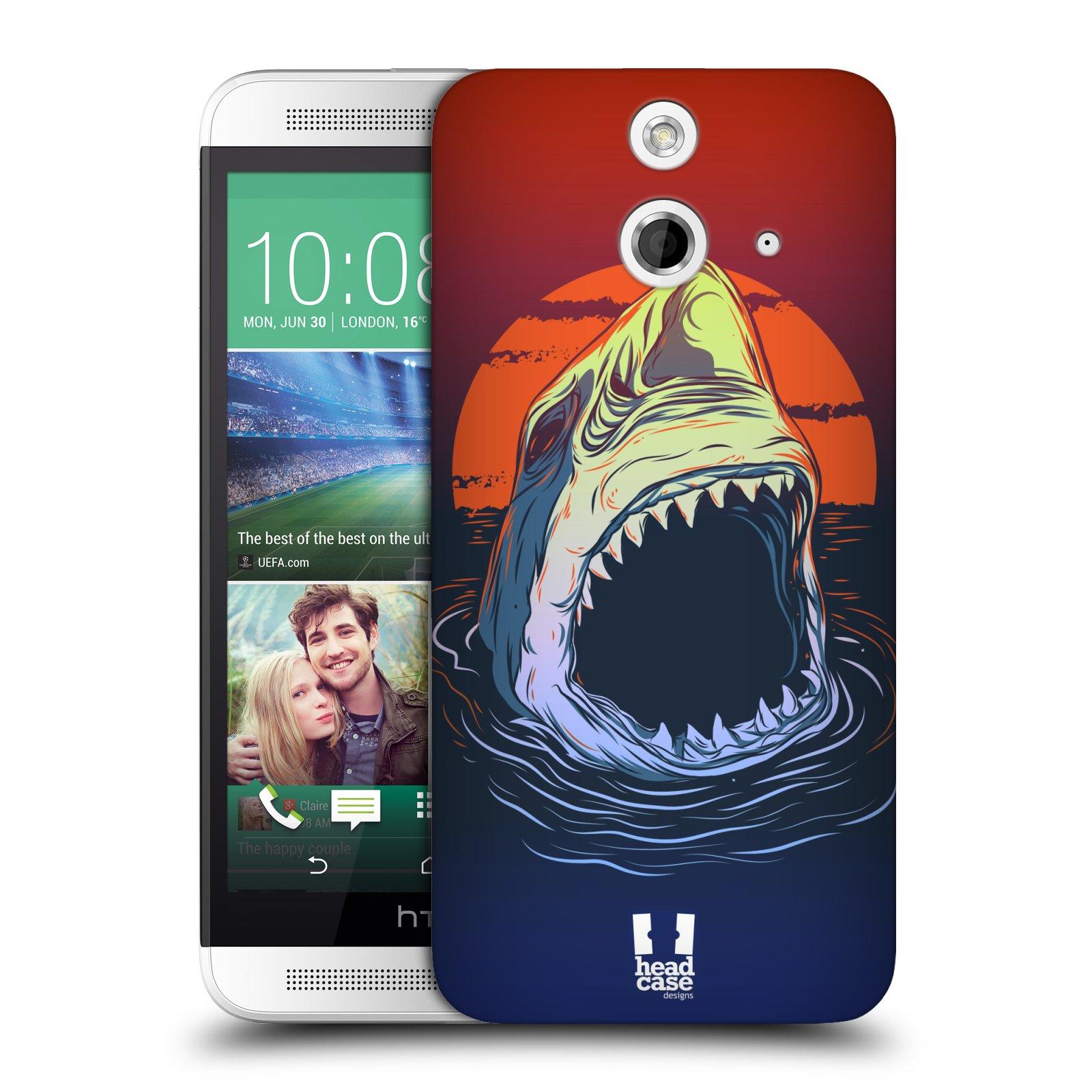 Plastové pouzdro na mobil HTC ONE E8 HEAD CASE HLADOVÝ ŽRALOK (Kryt či obal na mobilní telefon HTC ONE E8)