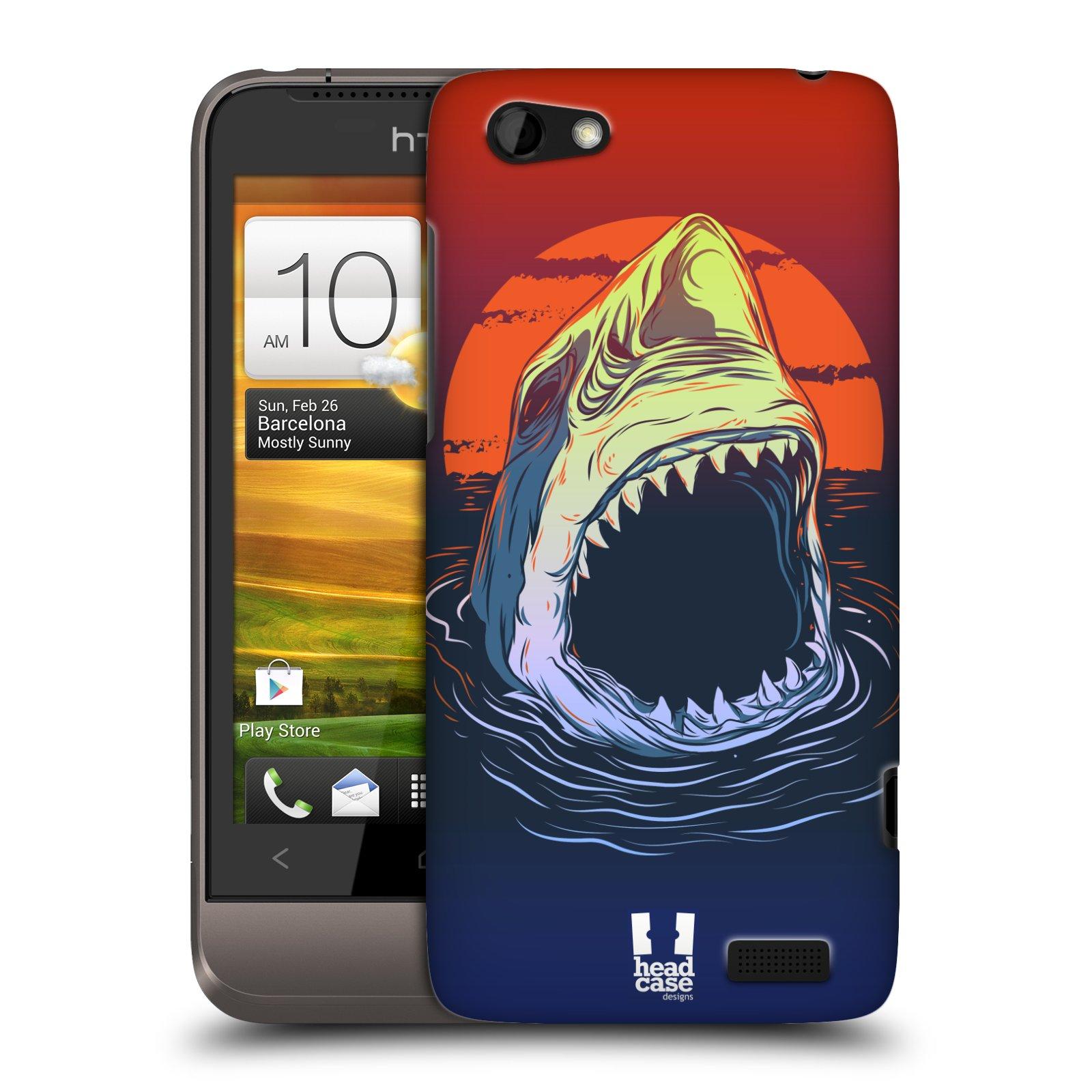 Plastové pouzdro na mobil HTC ONE V HEAD CASE HLADOVÝ ŽRALOK (Kryt či obal na mobilní telefon HTC ONE V)