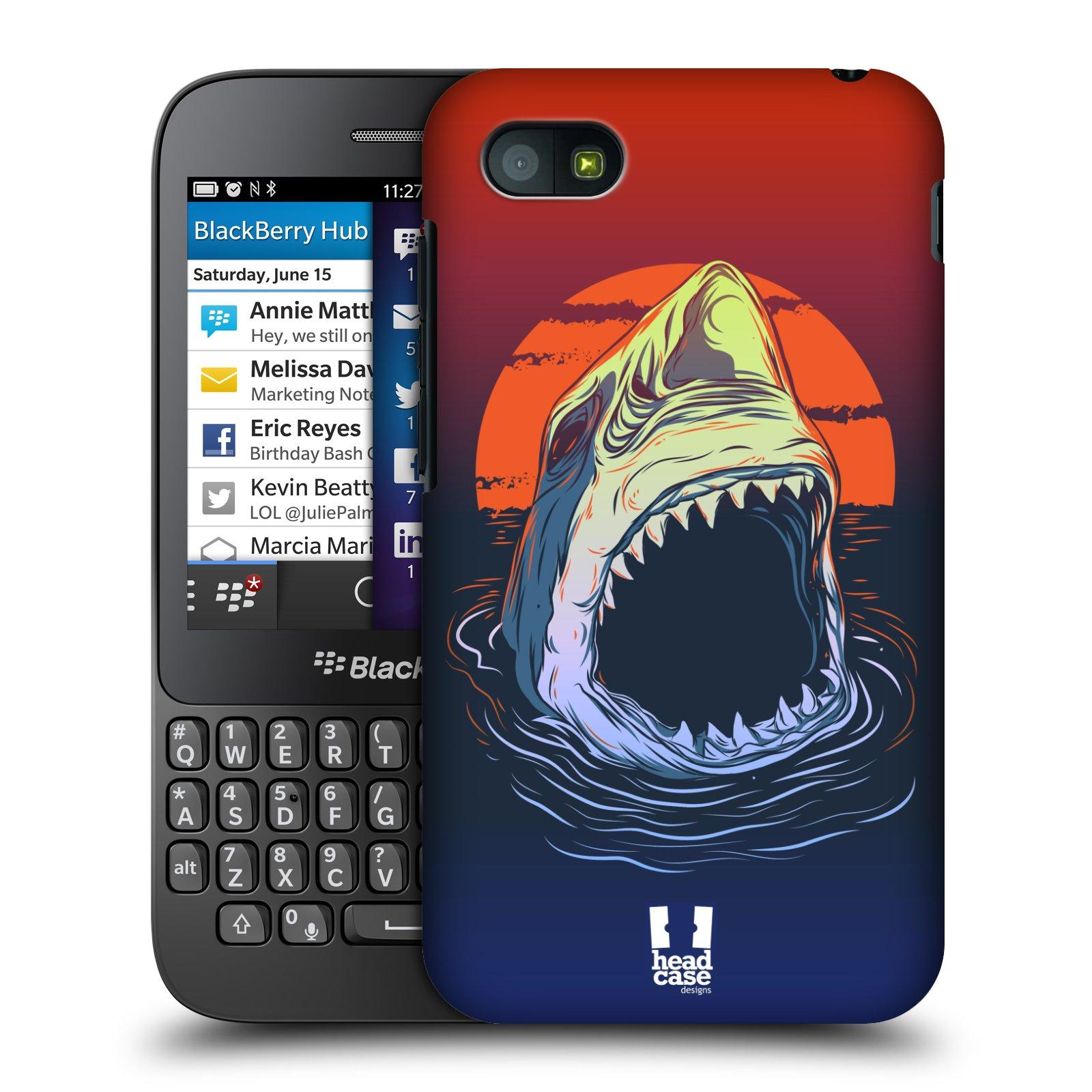 Plastové pouzdro na mobil Blackberry Q5 HEAD CASE HLADOVÝ ŽRALOK (Kryt či obal na mobilní telefon Blackberry Q5)