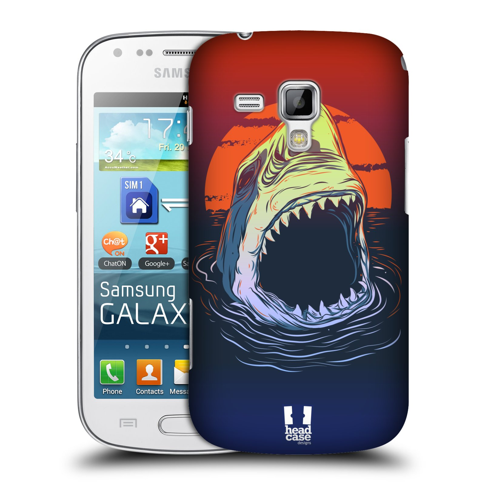 Plastové pouzdro na mobil Samsung Galaxy Trend HEAD CASE HLADOVÝ ŽRALOK (Kryt či obal na mobilní telefon Samsung Galaxy Trend GT-S7560)