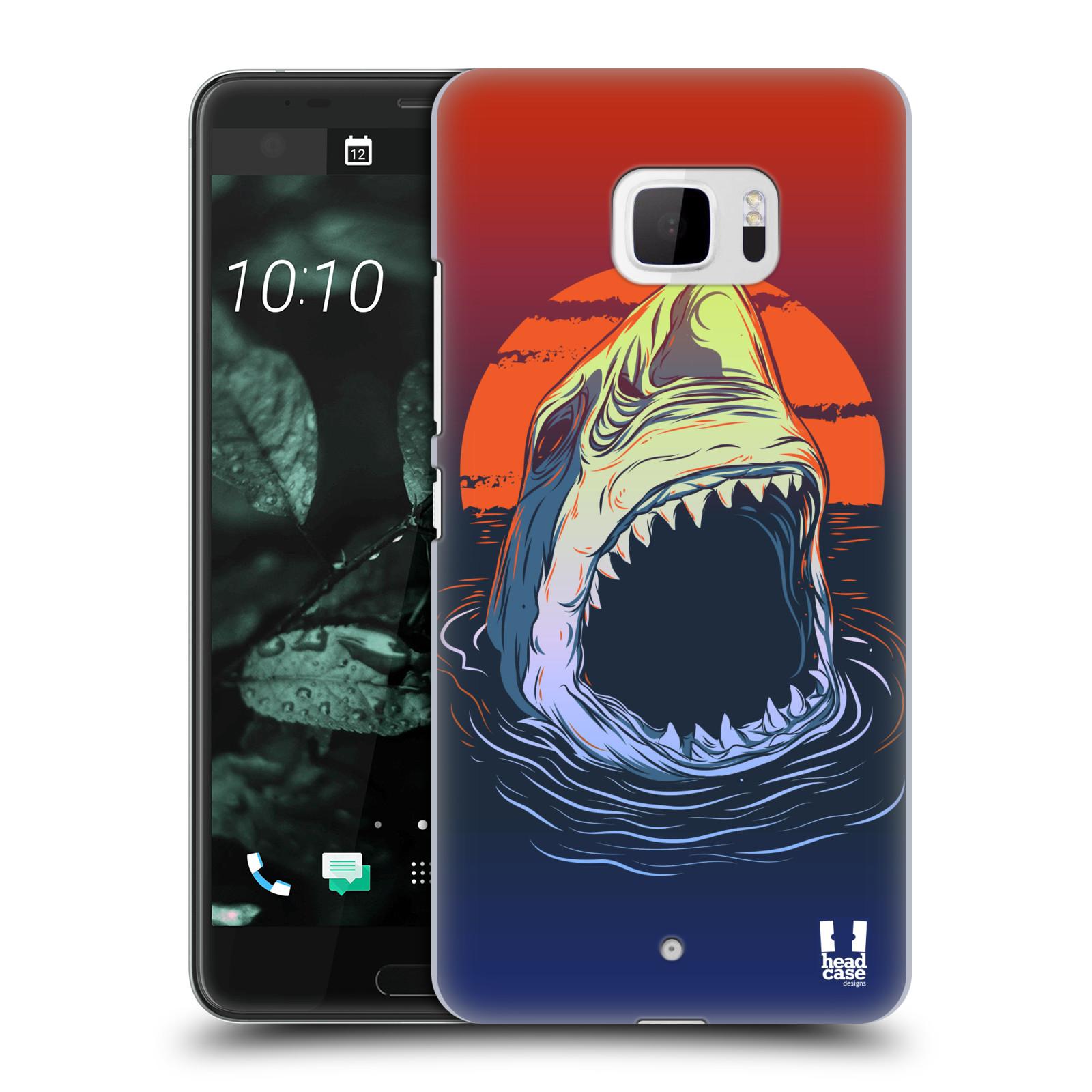 Plastové pouzdro na mobil HTC U Ultra Head Case - HLADOVÝ ŽRALOK (Plastový kryt či obal na mobilní telefon HTC U Ultra (99HALT015-00))