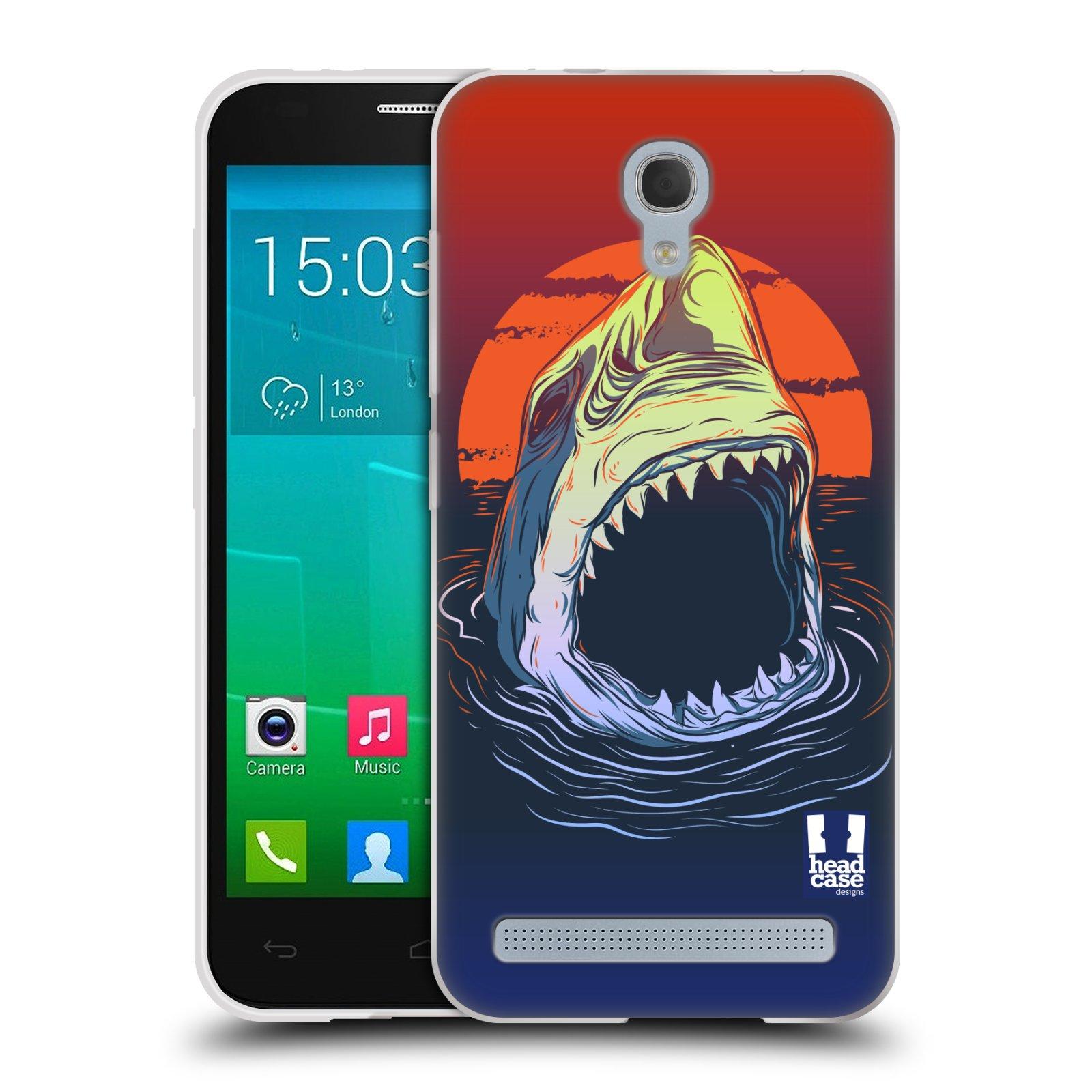 Silikonové pouzdro na mobil Alcatel One Touch Idol 2 Mini S 6036Y HEAD CASE HLADOVÝ ŽRALOK (Silikonový kryt či obal na mobilní telefon Alcatel Idol 2 Mini S OT-6036Y)