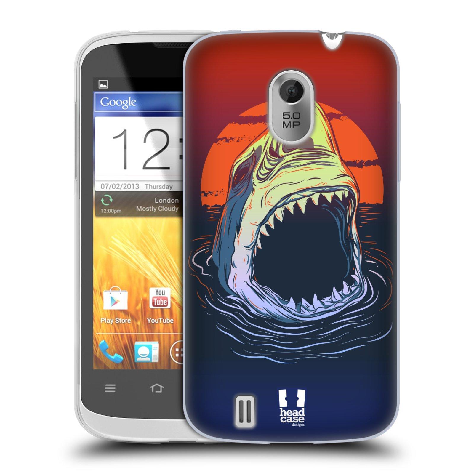 Silikonové pouzdro na mobil ZTE Blade III HEAD CASE HLADOVÝ ŽRALOK (Silikonový kryt či obal na mobilní telefon ZTE Blade 3)