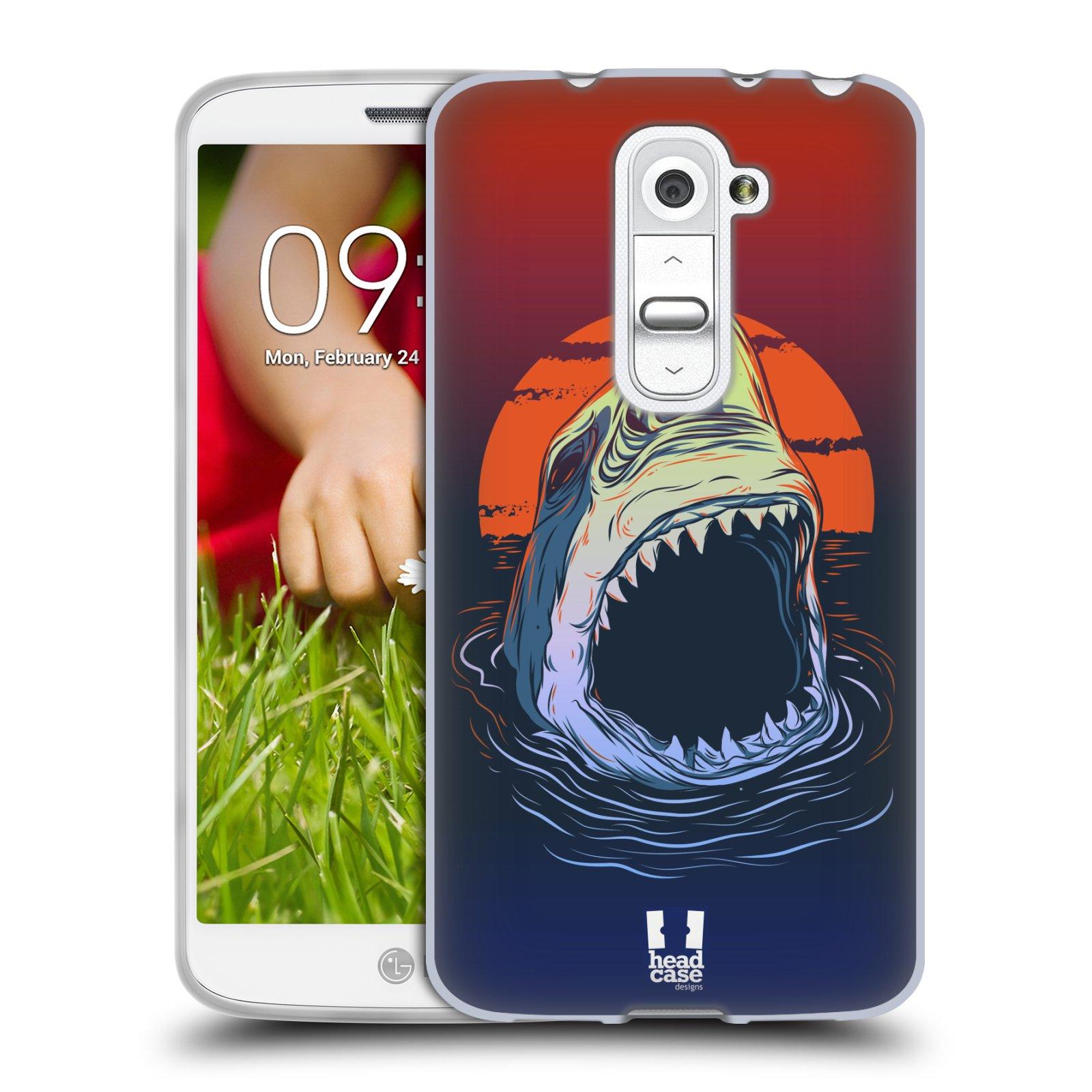 Silikonové pouzdro na mobil LG G2 Mini HEAD CASE HLADOVÝ ŽRALOK (Silikonový kryt či obal na mobilní telefon LG G2 Mini D620)