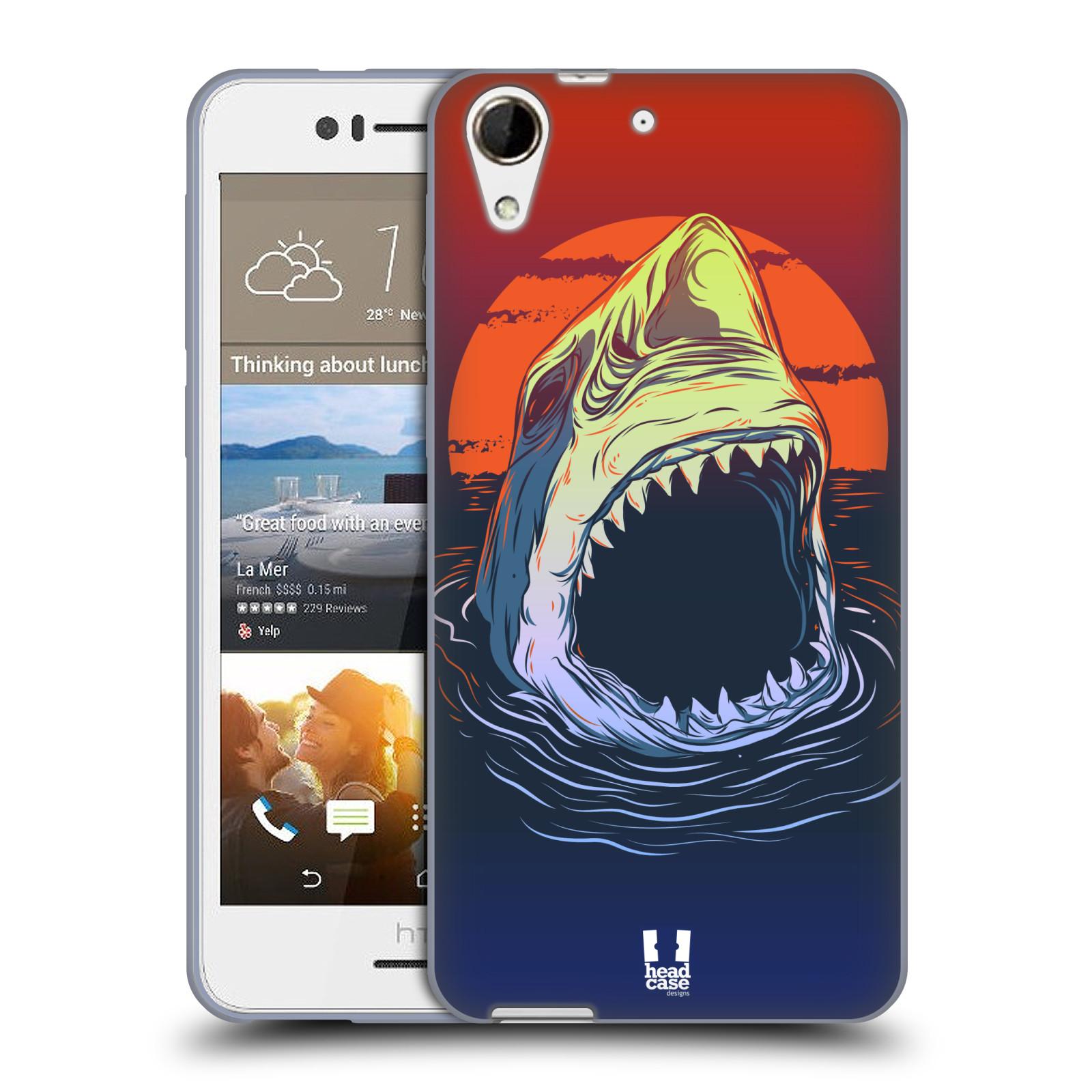 Silikonové pouzdro na mobil HTC Desire 728G Dual SIM HEAD CASE HLADOVÝ ŽRALOK (Silikonový kryt či obal na mobilní telefon HTC Desire 728 G Dual SIM)
