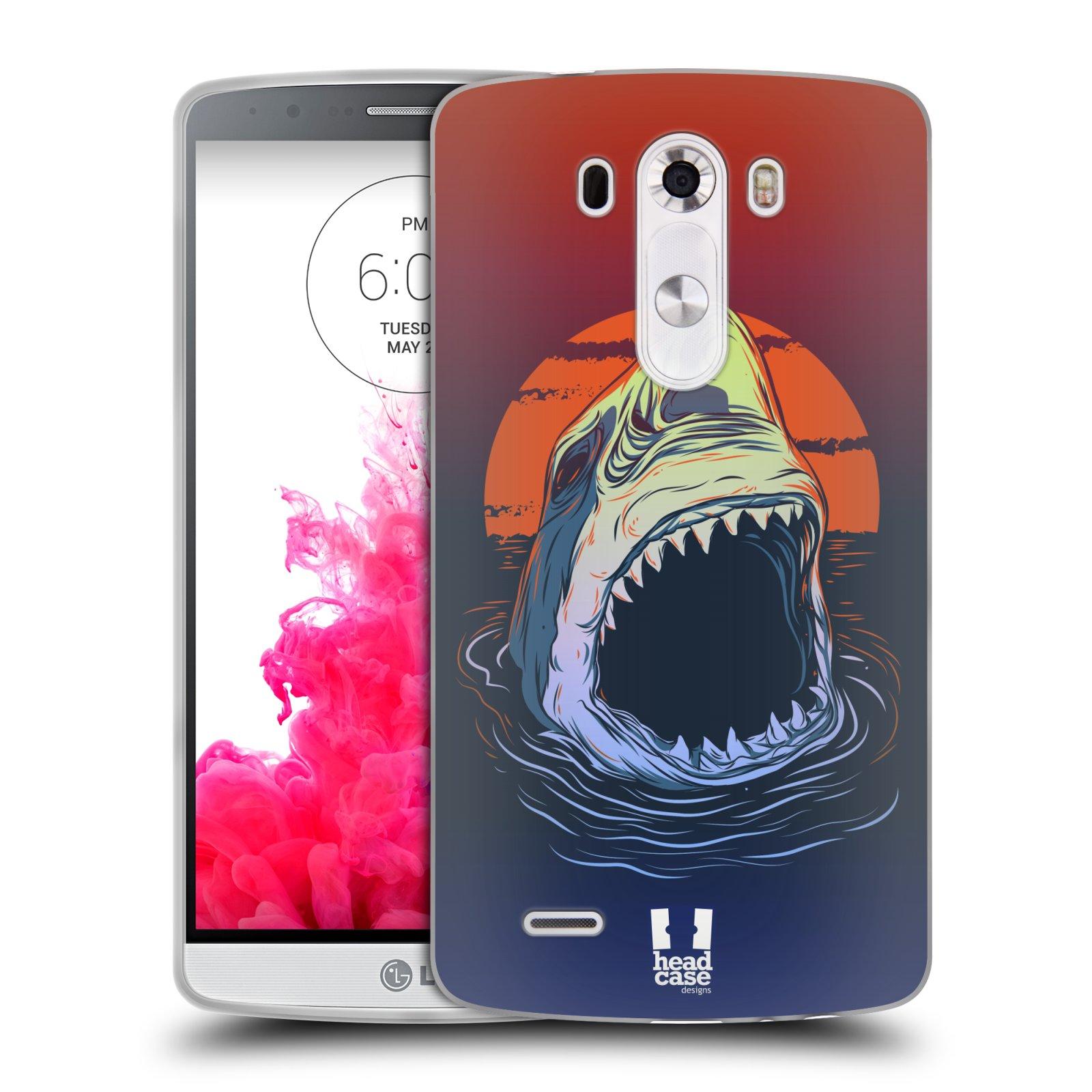 Silikonové pouzdro na mobil LG G3 HEAD CASE HLADOVÝ ŽRALOK (Silikonový kryt či obal na mobilní telefon LG G3 D855)