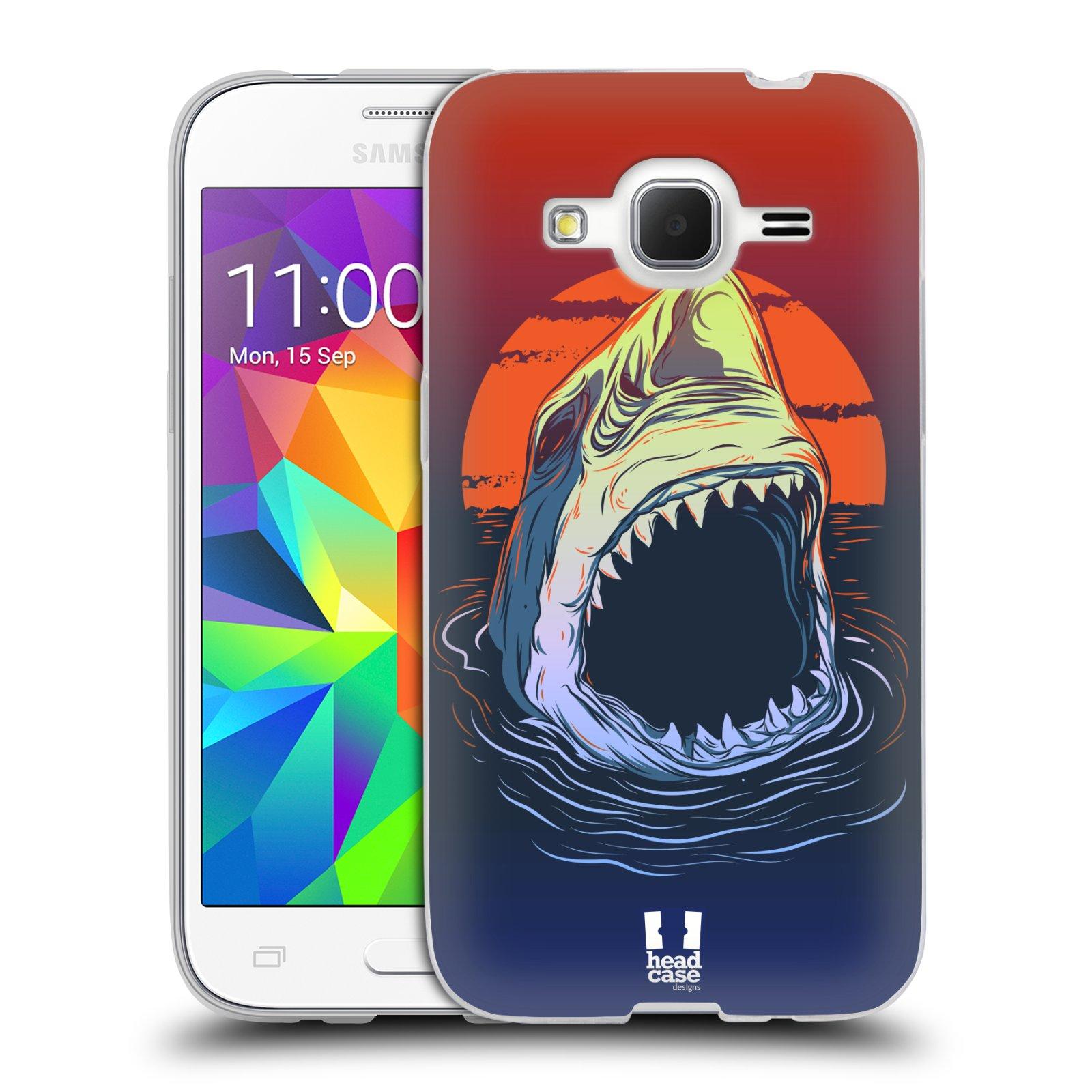 Silikonové pouzdro na mobil Samsung Galaxy Core Prime LTE HEAD CASE HLADOVÝ ŽRALOK (Silikonový kryt či obal na mobilní telefon Samsung Galaxy Core Prime LTE SM-G360)