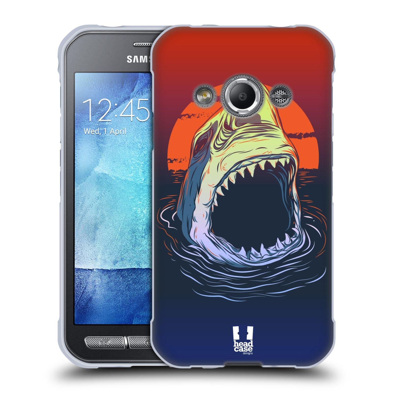 Silikonové pouzdro na mobil Samsung Galaxy Xcover 3 HEAD CASE HLADOVÝ ŽRALOK (Silikonový kryt či obal na mobilní telefon Samsung Galaxy Xcover 3 SM-G388F)