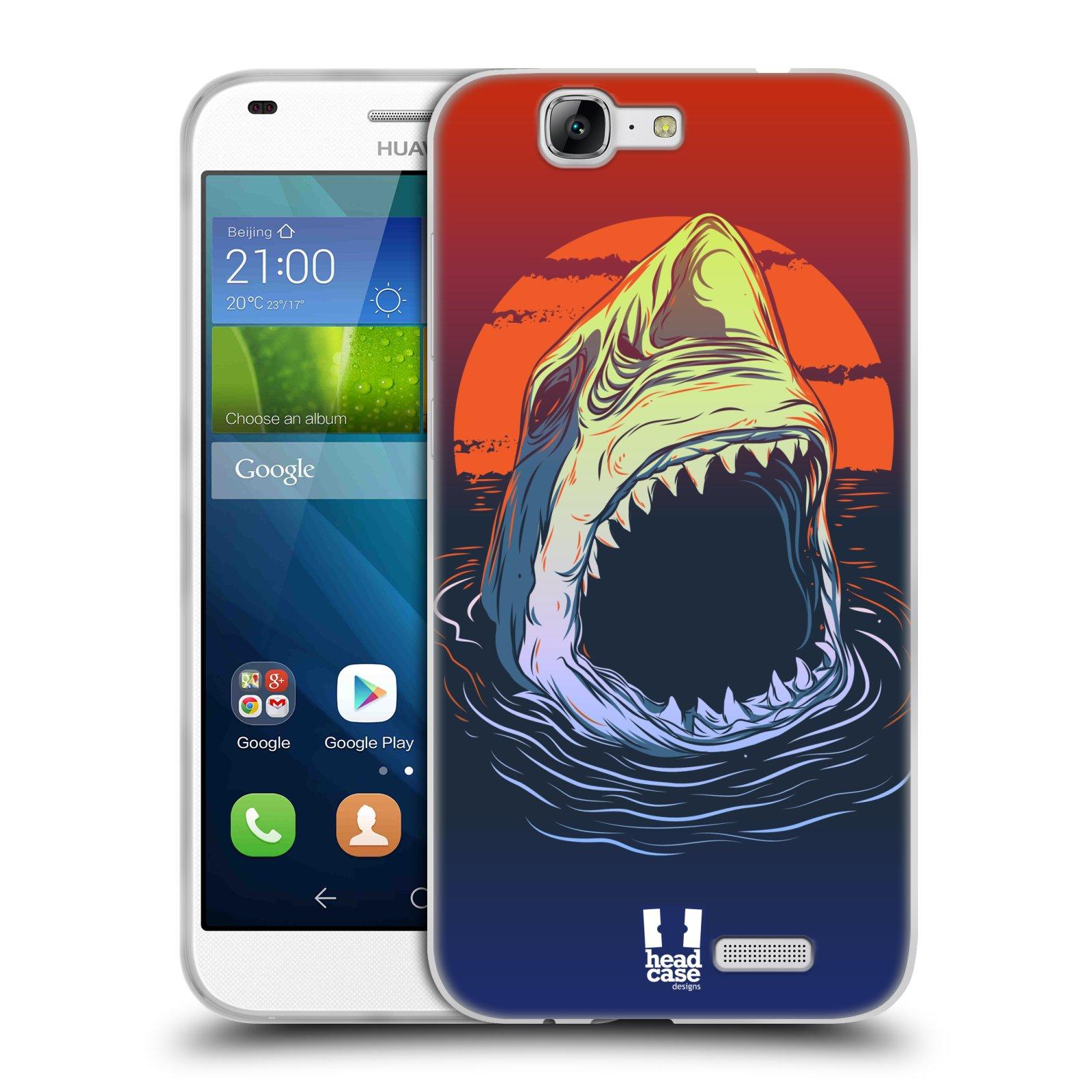 Silikonové pouzdro na mobil Huawei Ascend G7 HEAD CASE HLADOVÝ ŽRALOK (Silikonový kryt či obal na mobilní telefon Huawei Ascend G7)