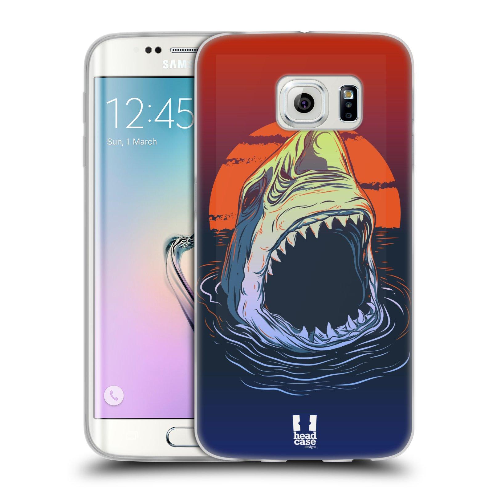 Silikonové pouzdro na mobil Samsung Galaxy S6 Edge HEAD CASE HLADOVÝ ŽRALOK (Silikonový kryt či obal na mobilní telefon Samsung Galaxy S6 Edge SM-G925F)