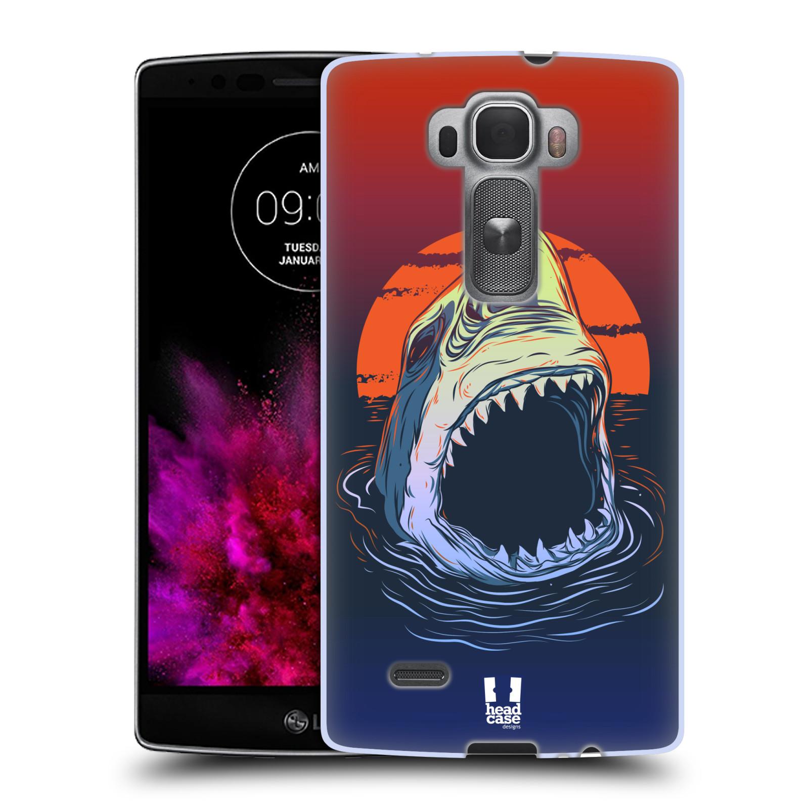 Silikonové pouzdro na mobil LG G Flex 2 HEAD CASE HLADOVÝ ŽRALOK (Silikonový kryt či obal na mobilní telefon LG G Flex 2 H955)