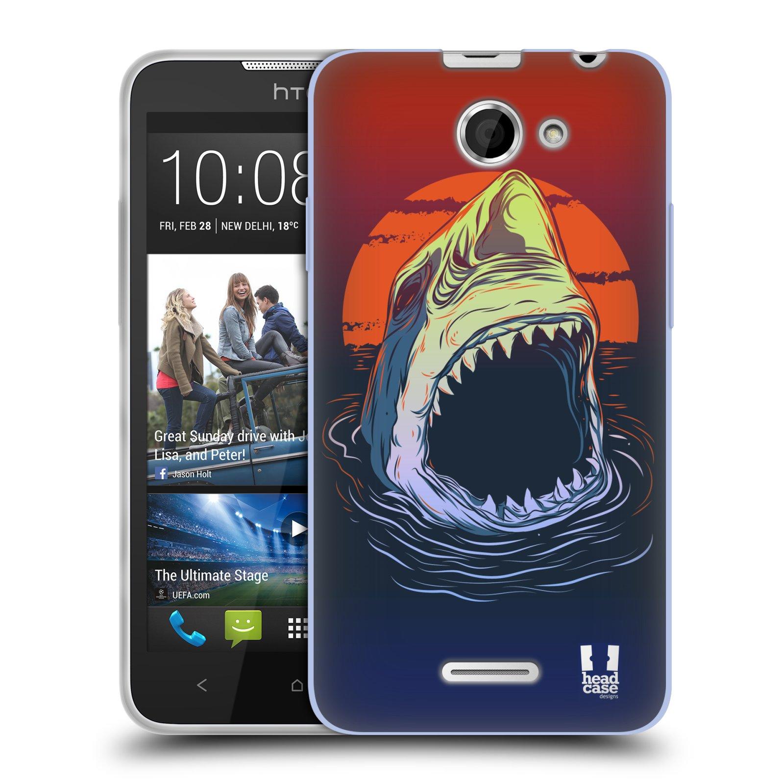 Silikonové pouzdro na mobil HTC Desire 516 HEAD CASE HLADOVÝ ŽRALOK (Silikonový kryt či obal na mobilní telefon HTC Desire 516 Dual SIM)