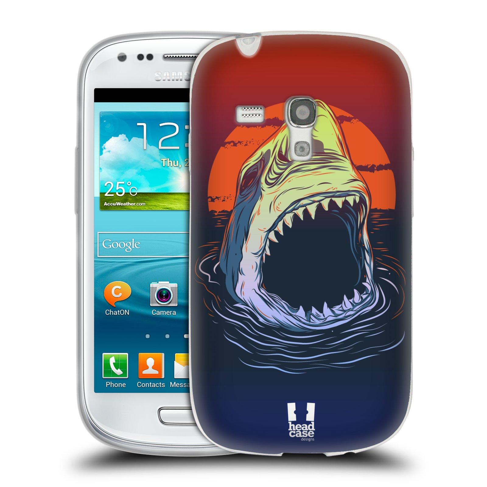 Silikonové pouzdro na mobil Samsung Galaxy S III Mini HEAD CASE HLADOVÝ ŽRALOK (Silikonový kryt či obal na mobilní telefon Samsung Galaxy S III Mini GT-i8190)