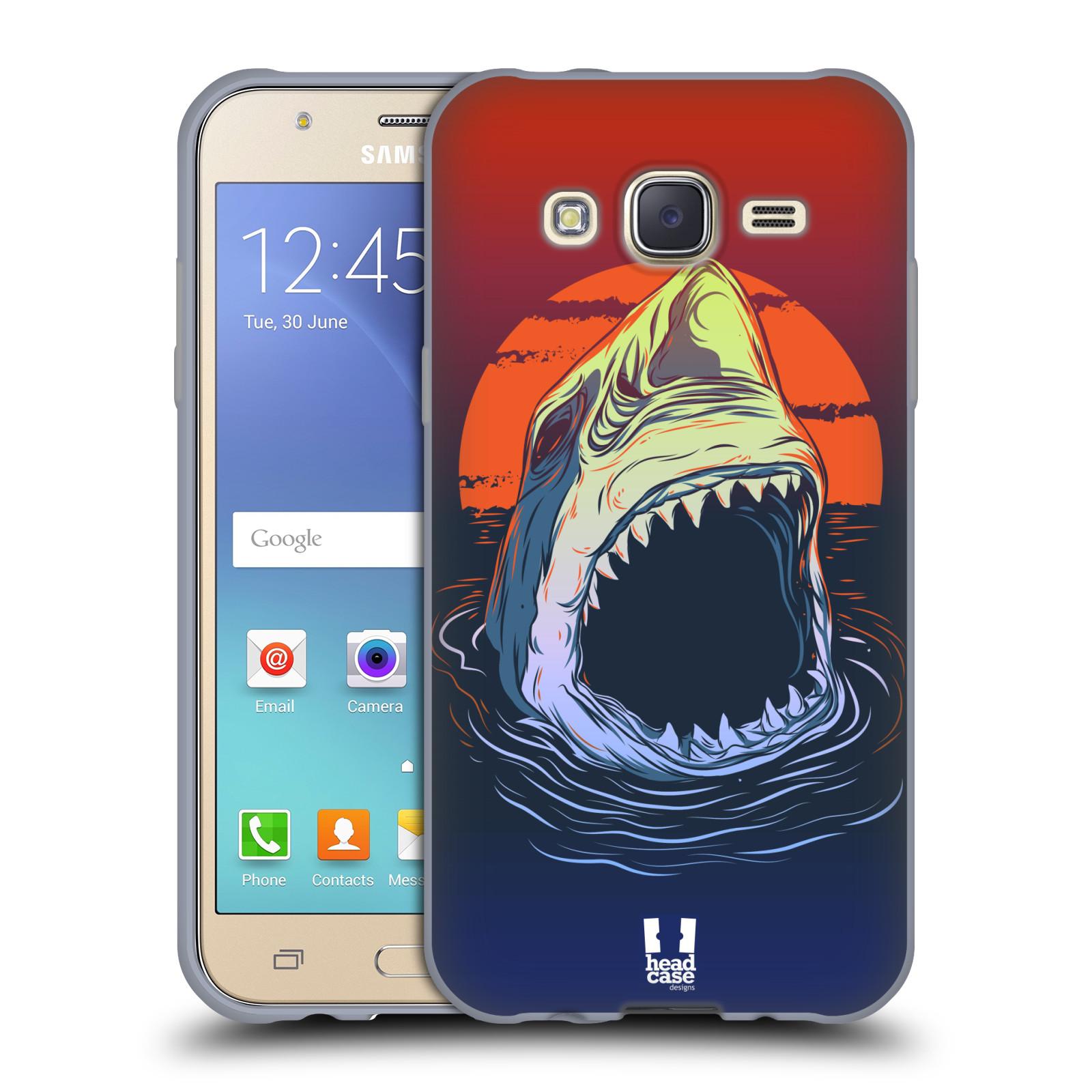 Silikonové pouzdro na mobil Samsung Galaxy J5 HEAD CASE HLADOVÝ ŽRALOK