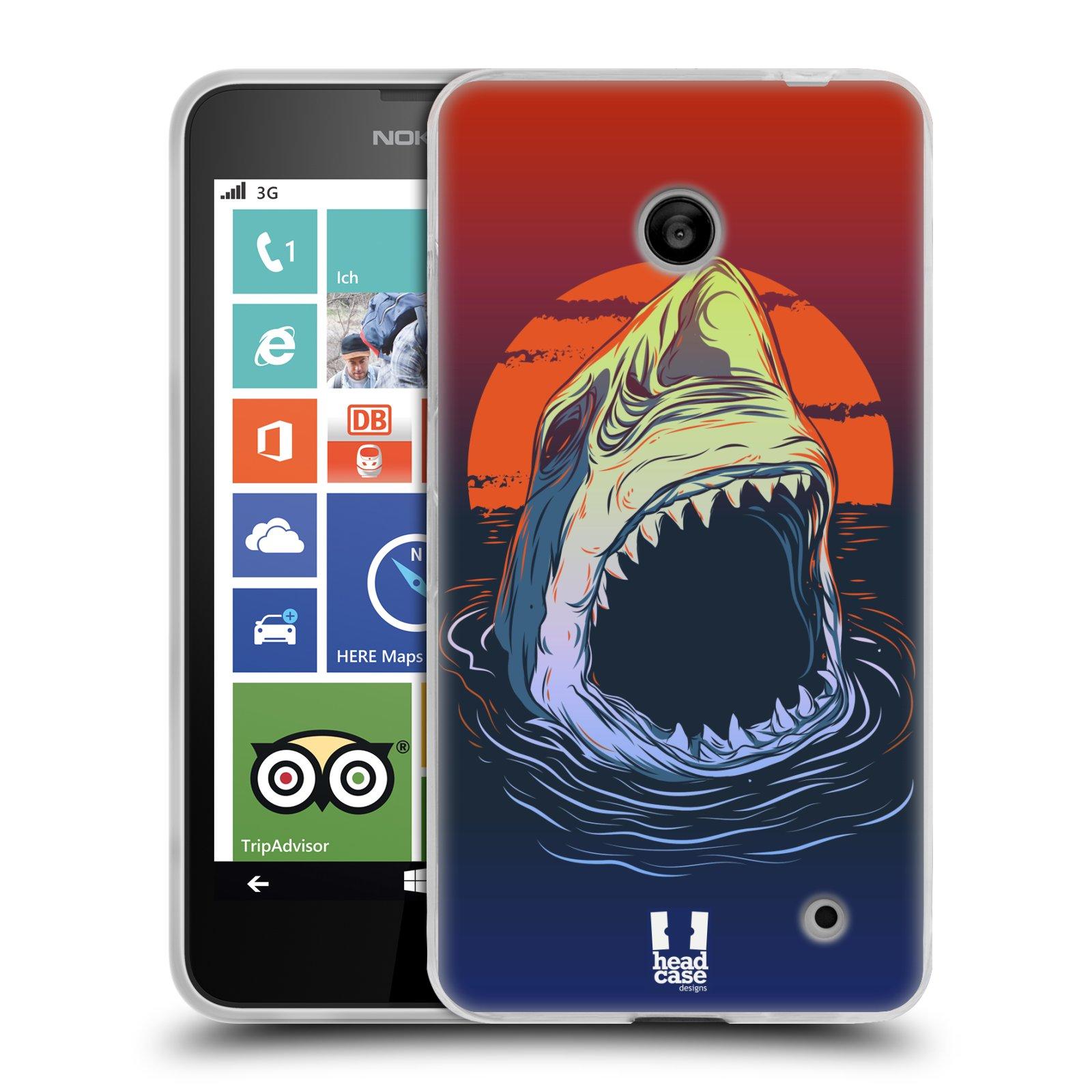 Silikonové pouzdro na mobil Nokia Lumia 630 HEAD CASE HLADOVÝ ŽRALOK (Silikonový kryt či obal na mobilní telefon Nokia Lumia 630 a Nokia Lumia 630 Dual SIM)