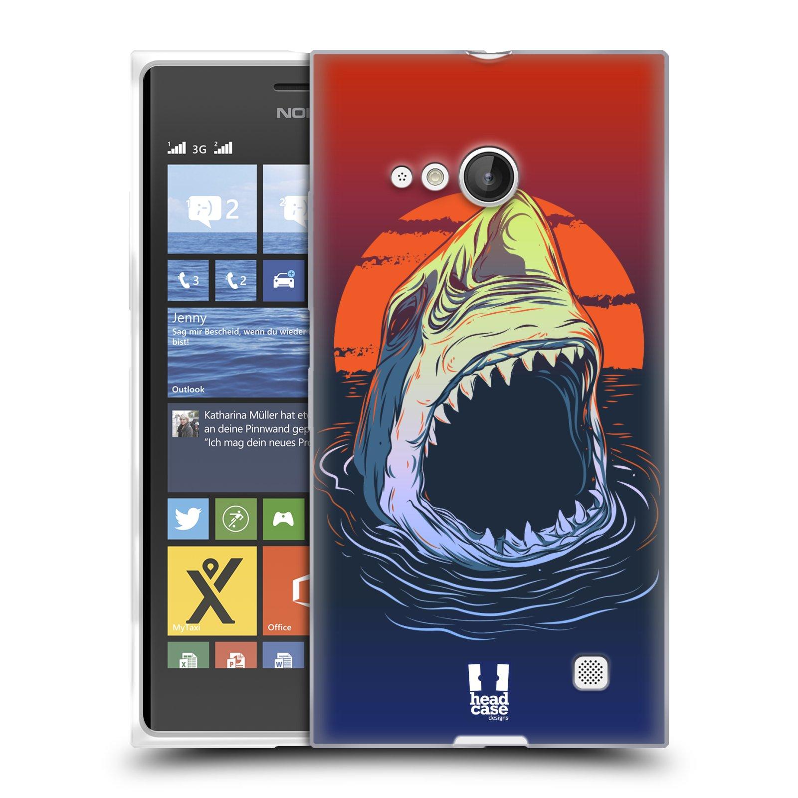 Silikonové pouzdro na mobil Nokia Lumia 730 Dual SIM HEAD CASE HLADOVÝ ŽRALOK (Silikonový kryt či obal na mobilní telefon Nokia Lumia 730 Dual SIM)