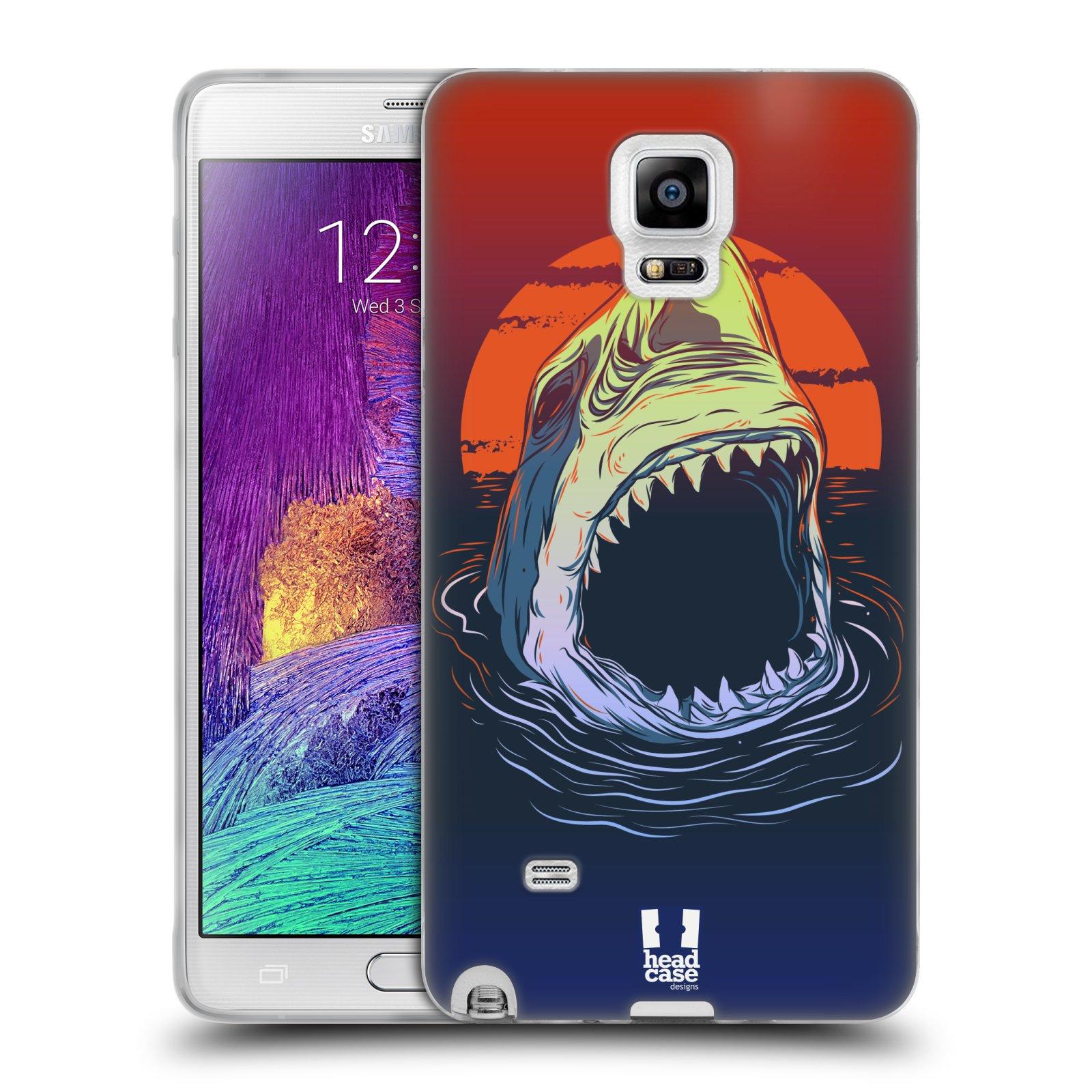 Silikonové pouzdro na mobil Samsung Galaxy Note 4 HEAD CASE HLADOVÝ ŽRALOK (Silikonový kryt či obal na mobilní telefon Samsung Galaxy Note 4 SM-N910F)
