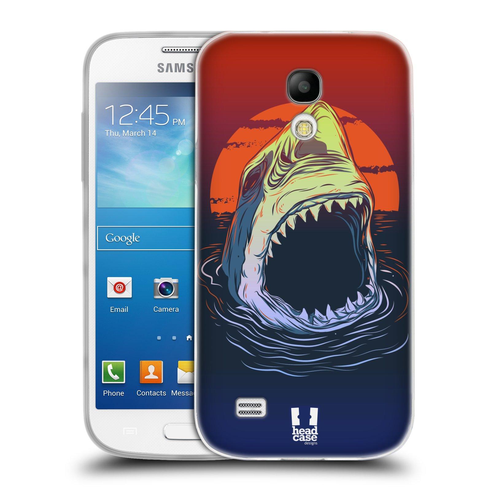 Silikonové pouzdro na mobil Samsung Galaxy S4 Mini HEAD CASE HLADOVÝ ŽRALOK (Silikonový kryt či obal na mobilní telefon Samsung Galaxy S4 Mini GT-i9195 / i9190 (nepasuje na verzi Black Edition))