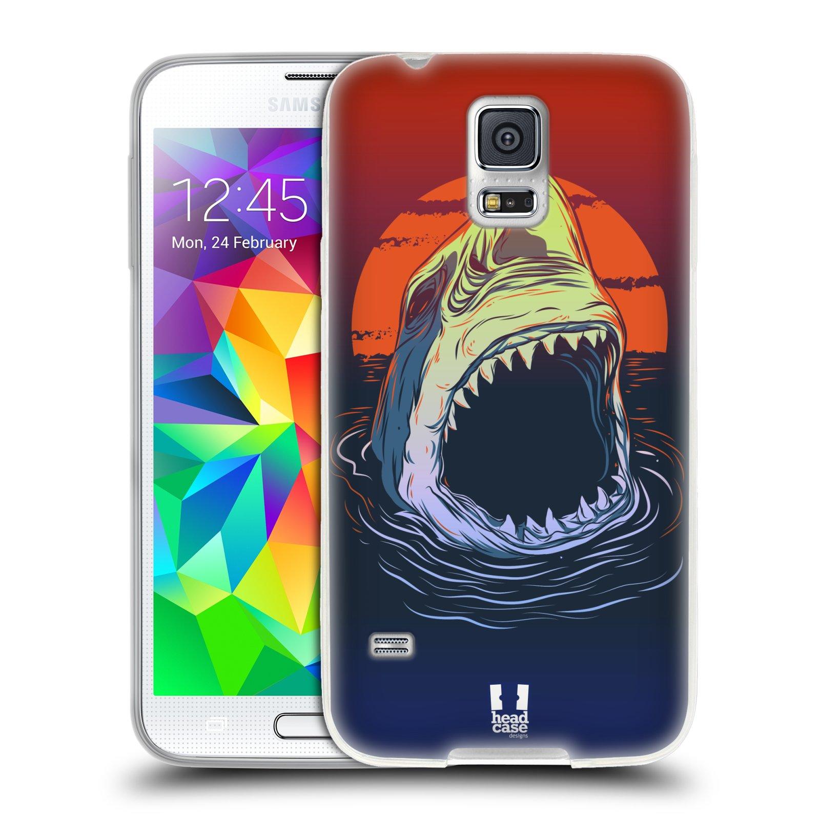 Silikonové pouzdro na mobil Samsung Galaxy S5 HEAD CASE HLADOVÝ ŽRALOK (Silikonový kryt či obal na mobilní telefon Samsung Galaxy S5 SM-G900F)