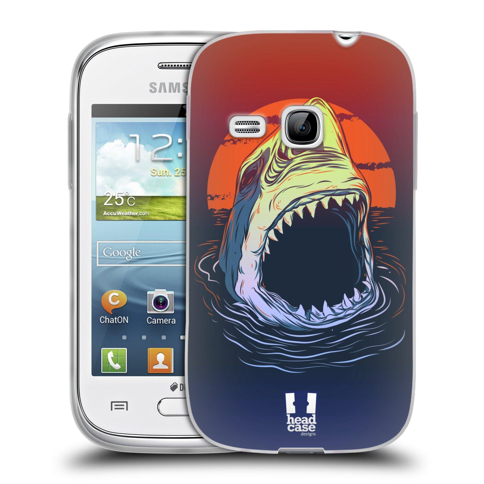 Silikonové pouzdro na mobil Samsung Galaxy Young HEAD CASE HLADOVÝ ŽRALOK (Silikonový kryt či obal na mobilní telefon Samsung Galaxy Young GT-S6310)