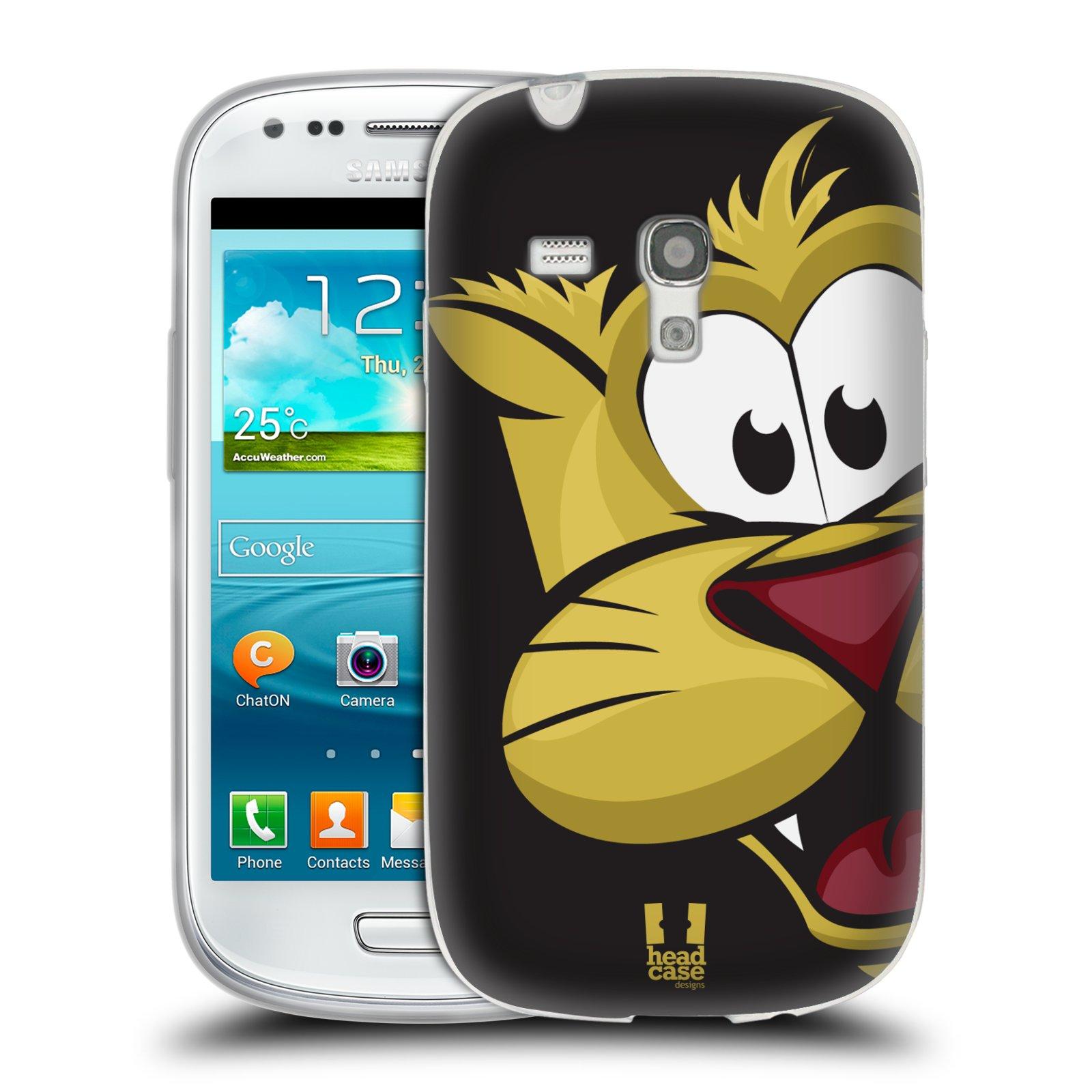 Silikonové pouzdro na mobil Samsung Galaxy S III Mini HEAD CASE ROZTOMILÝ TYGŘÍK (Silikonový kryt či obal na mobilní telefon Samsung Galaxy S III Mini GT-i8190)