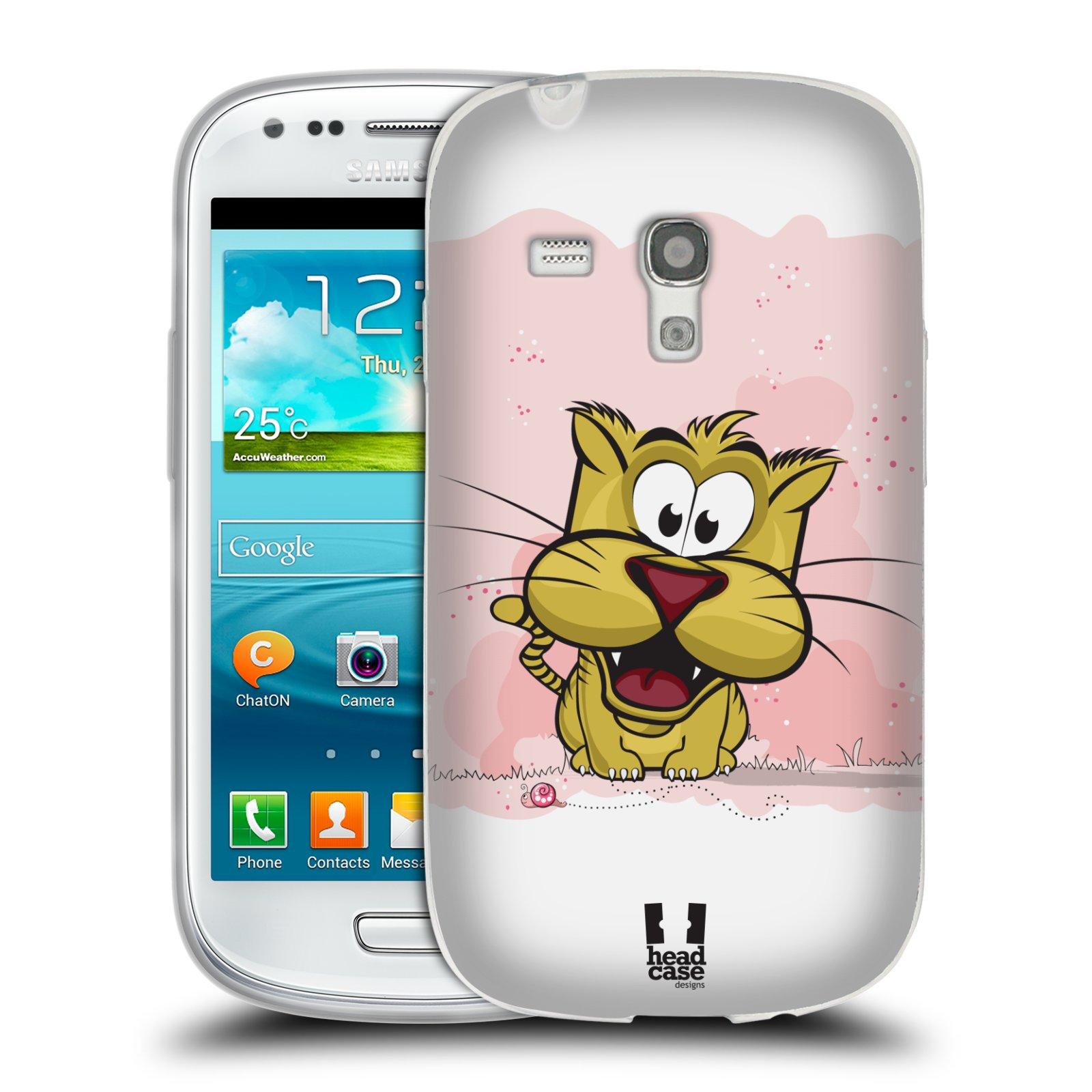 Silikonové pouzdro na mobil Samsung Galaxy S III Mini HEAD CASE CELÝ TYGŘÍK (Silikonový kryt či obal na mobilní telefon Samsung Galaxy S III Mini GT-i8190)