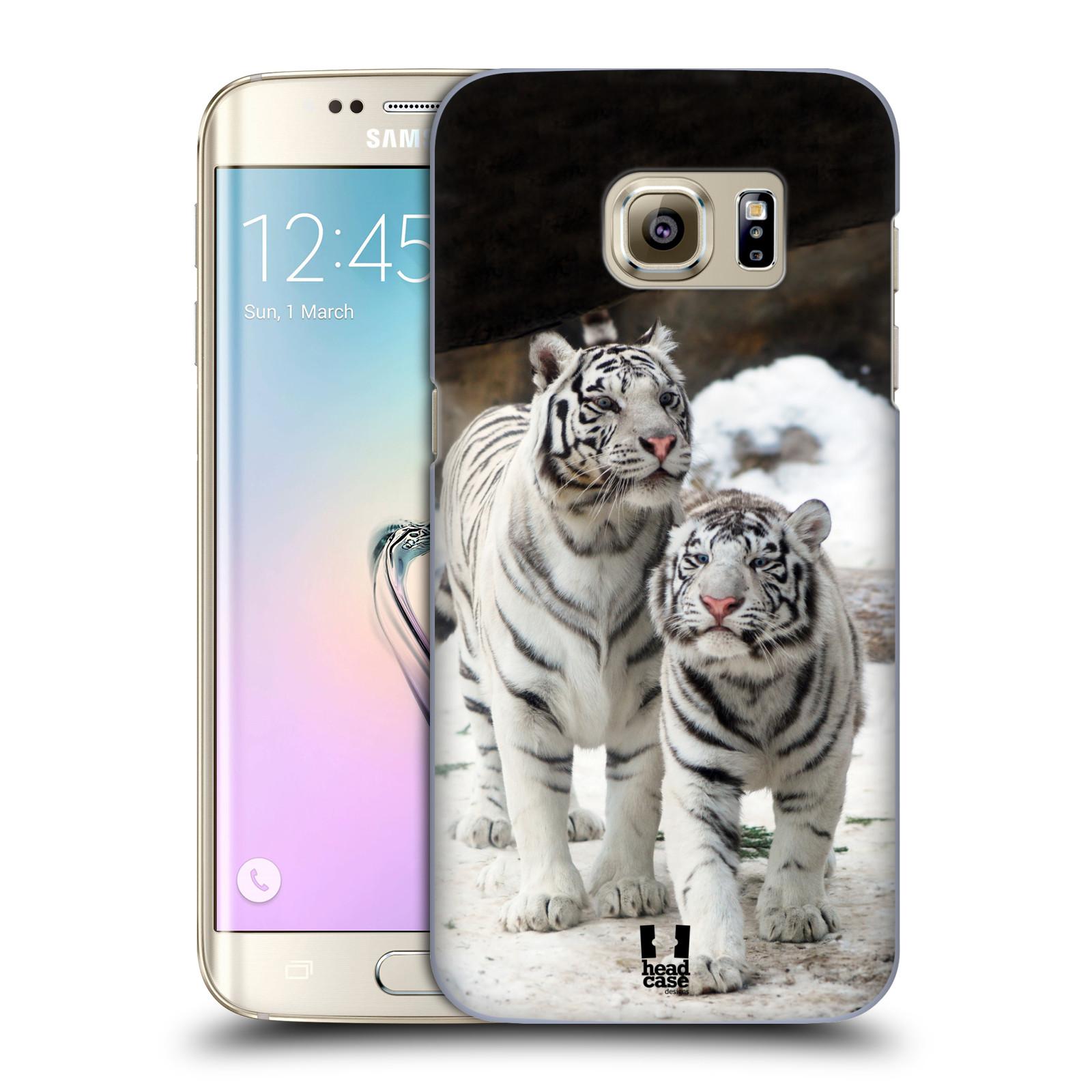 Plastové pouzdro na mobil Samsung Galaxy S7 Edge HEAD CASE BÍLÍ TYGŘI (Kryt či obal na mobilní telefon Samsung Galaxy S7 Edge SM-G935F)