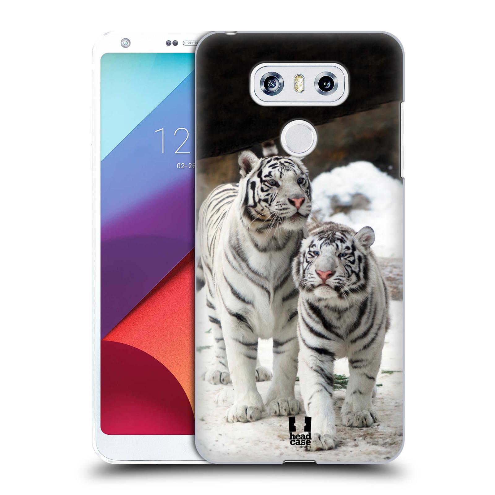 Plastové pouzdro na mobil LG G6 - Head Case BÍLÍ TYGŘI (Plastový kryt či obal na mobilní telefon LG G6 H870 / LG G6 Dual SIM H870DS)
