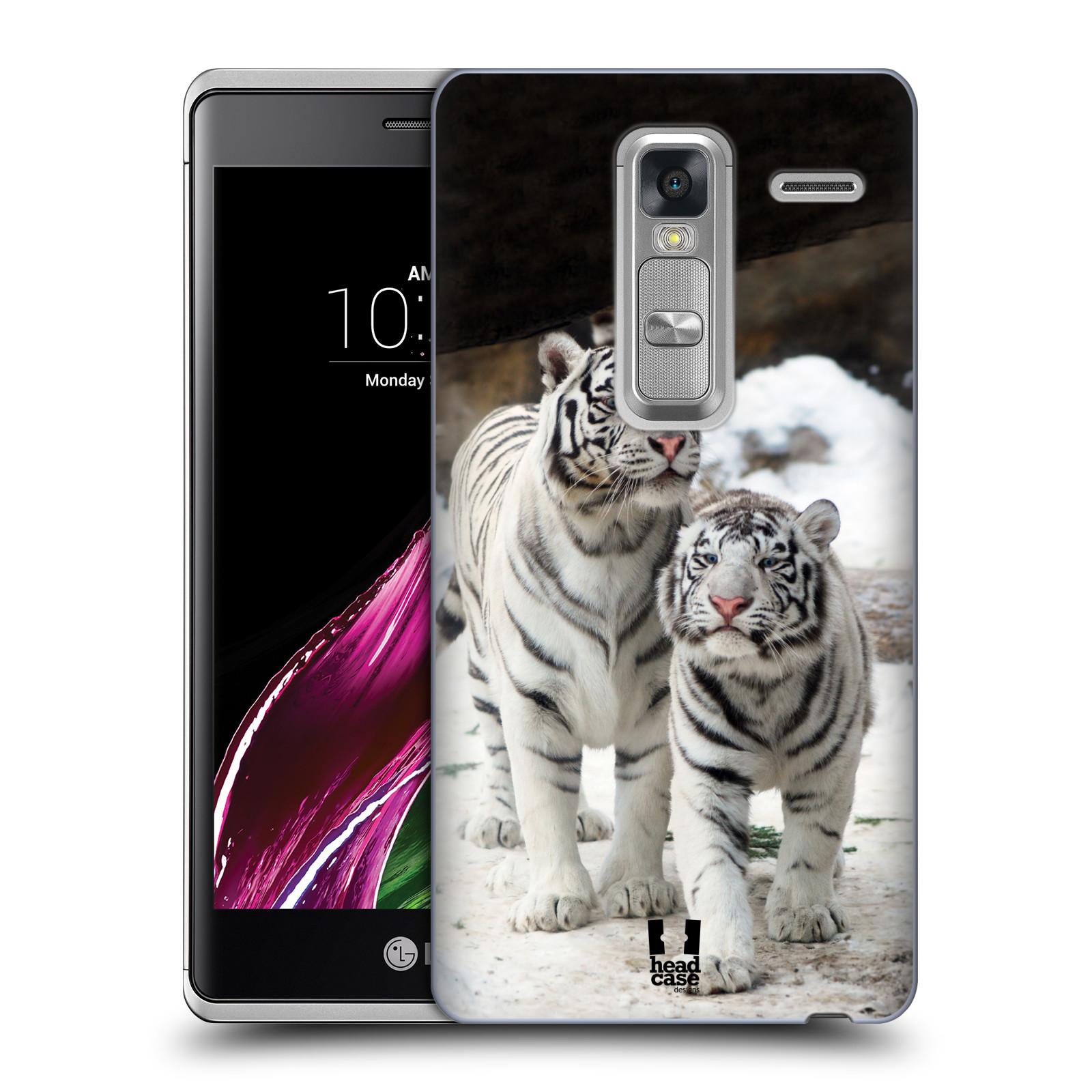Plastové pouzdro na mobil LG Zero HEAD CASE BÍLÍ TYGŘI (Kryt či obal na mobilní telefon LG Zero H650E / Classic)