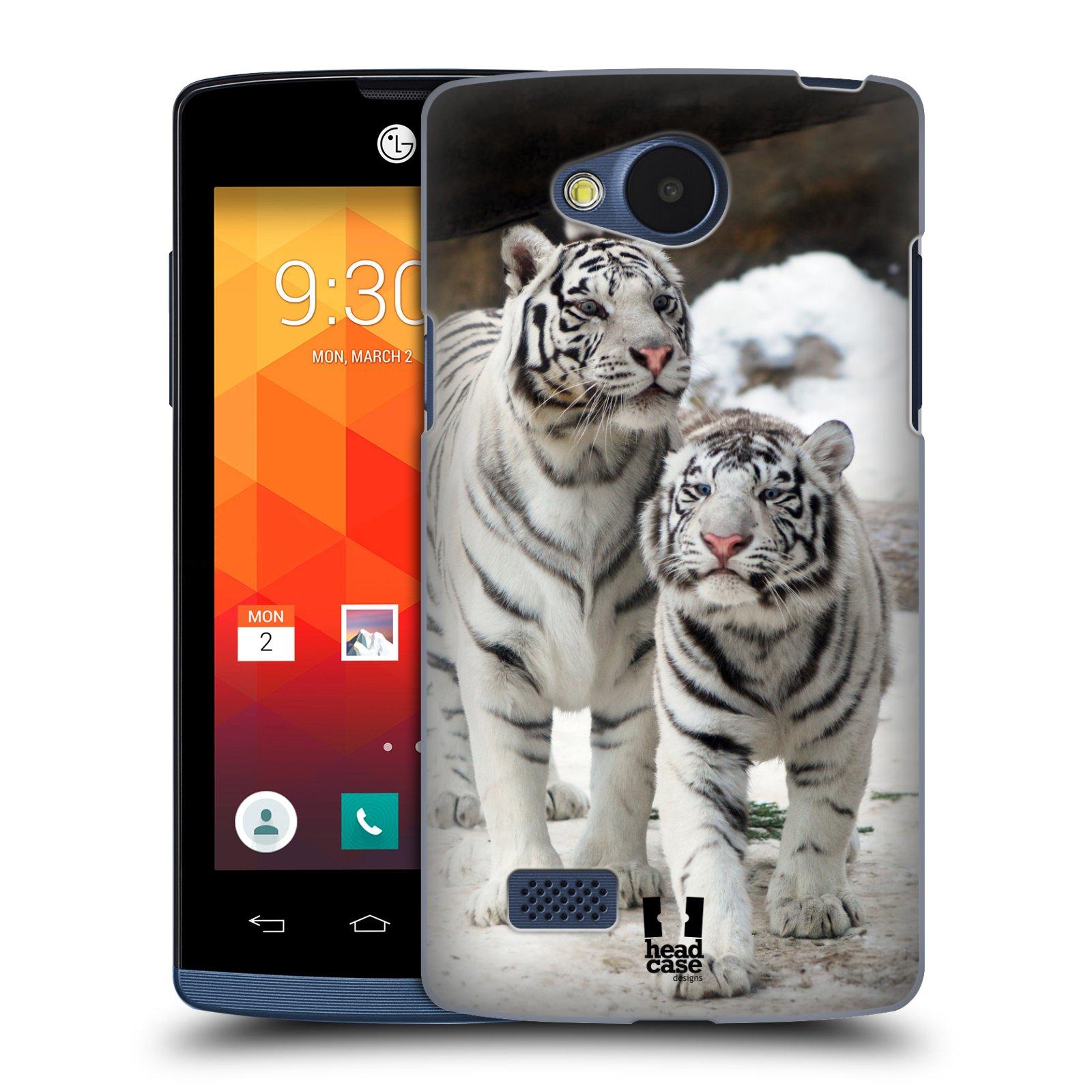 Plastové pouzdro na mobil LG Joy HEAD CASE BÍLÍ TYGŘI (Kryt či obal na mobilní telefon LG Joy H220)