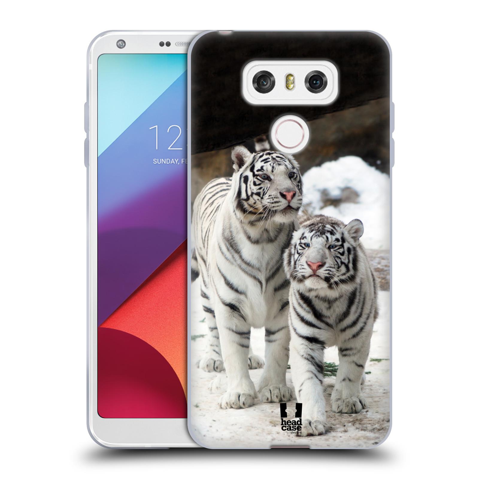 Silikonové pouzdro na mobil LG G6 - Head Case BÍLÍ TYGŘI (Silikonový kryt či obal na mobilní telefon LG G6 H870 / LG G6 Dual SIM H870DS)