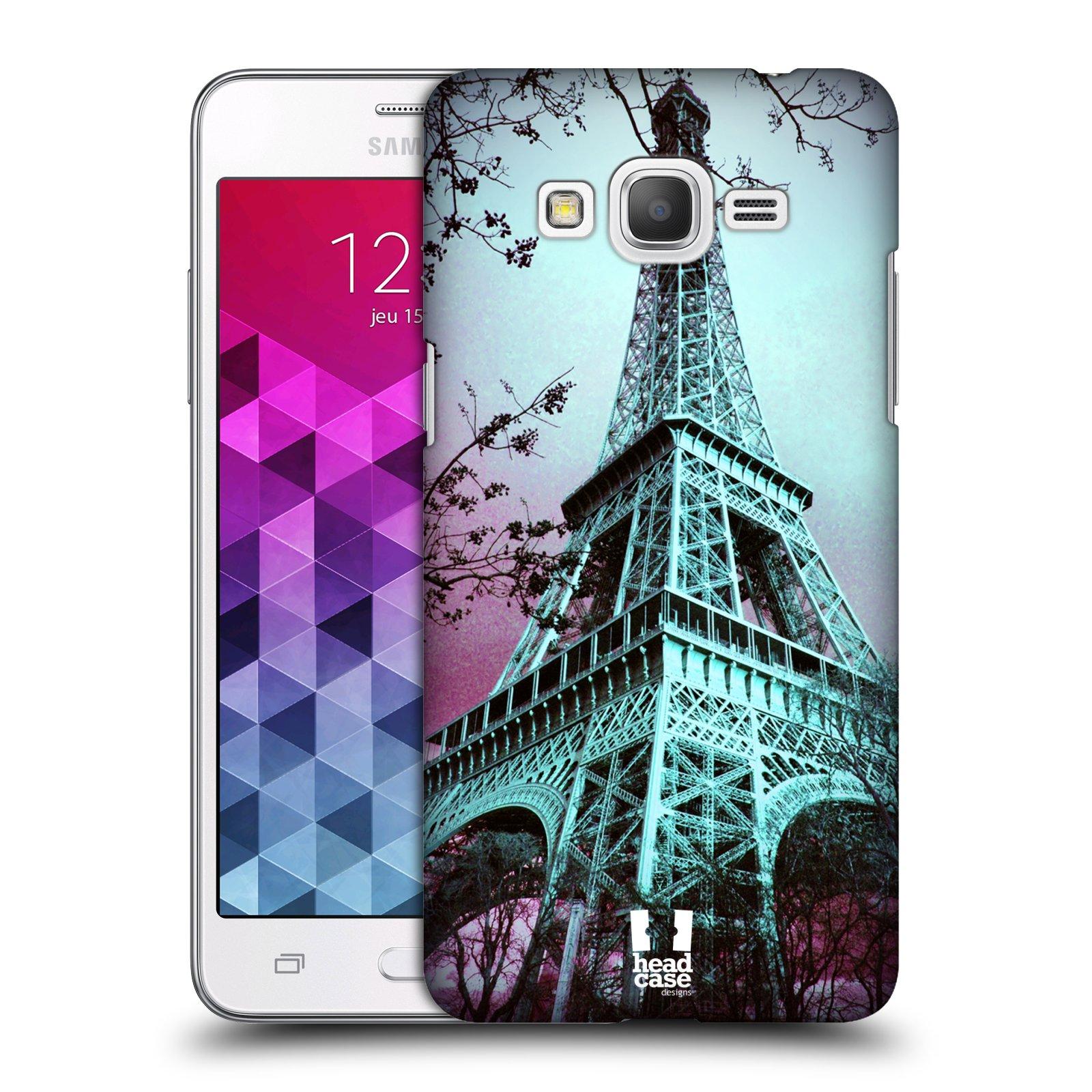 Plastové pouzdro na mobil Samsung Galaxy Grand Prime VE HEAD CASE RŮŽOVOMODRÁ AIFELOVKA