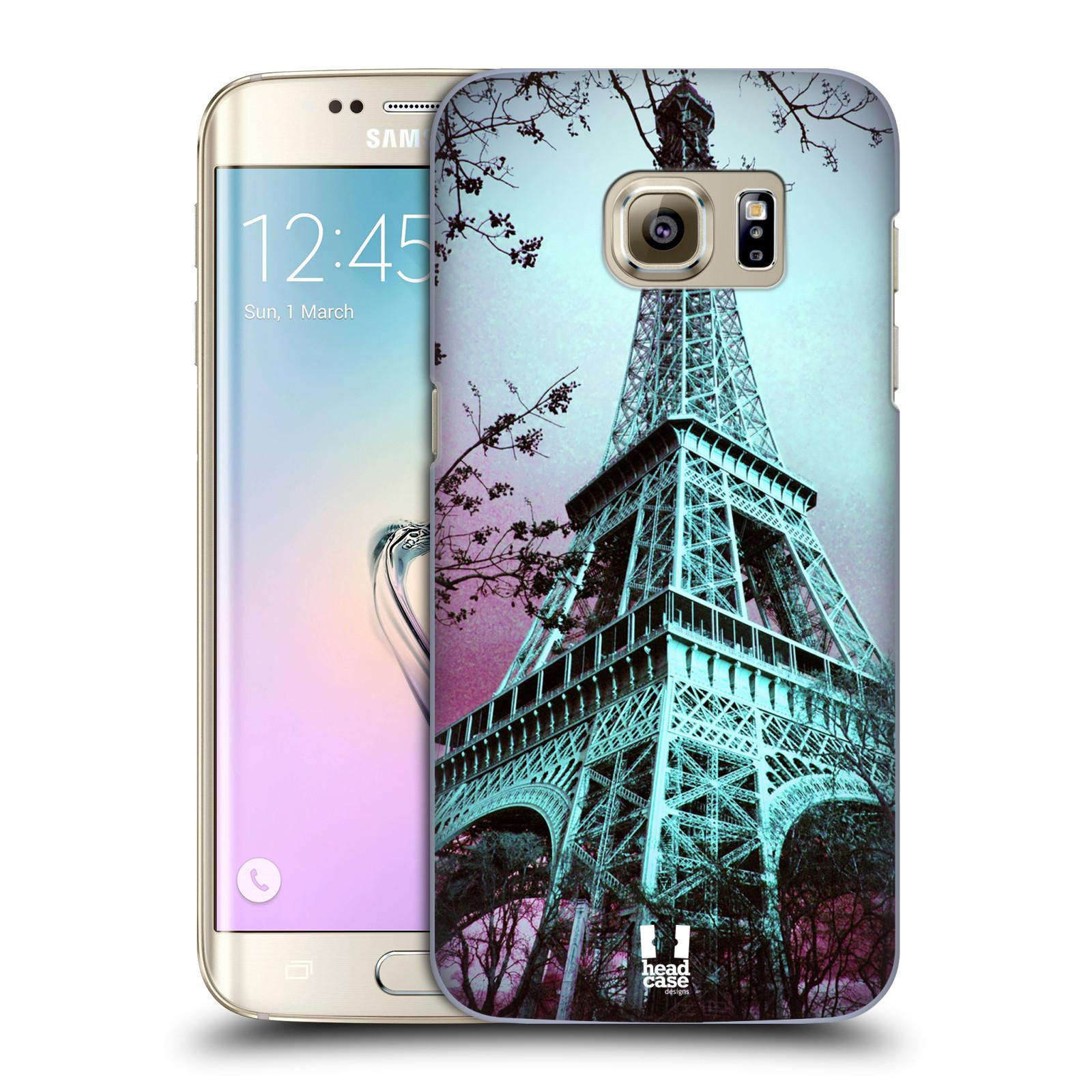 Plastové pouzdro na mobil Samsung Galaxy S7 Edge HEAD CASE RŮŽOVOMODRÁ AIFELOVKA (Kryt či obal na mobilní telefon Samsung Galaxy S7 Edge SM-G935F)