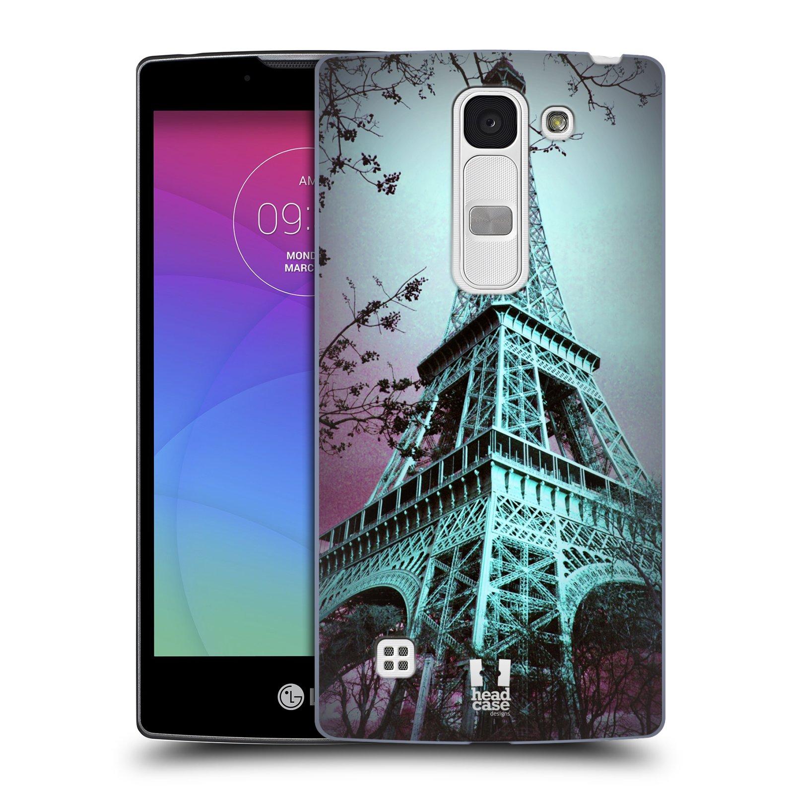 Plastové pouzdro na mobil LG Spirit LTE HEAD CASE RŮŽOVOMODRÁ AIFELOVKA (Kryt či obal na mobilní telefon LG Spirit H420 a LG Spirit LTE H440N)