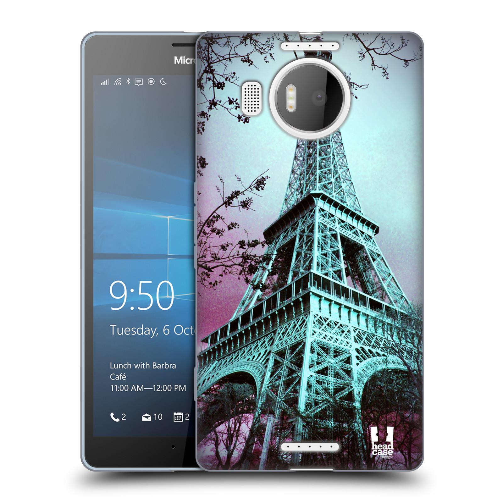 Silikonové pouzdro na mobil Microsoft Lumia 950 XL HEAD CASE  RŮŽOVOMODRÁ AIFELOVKA