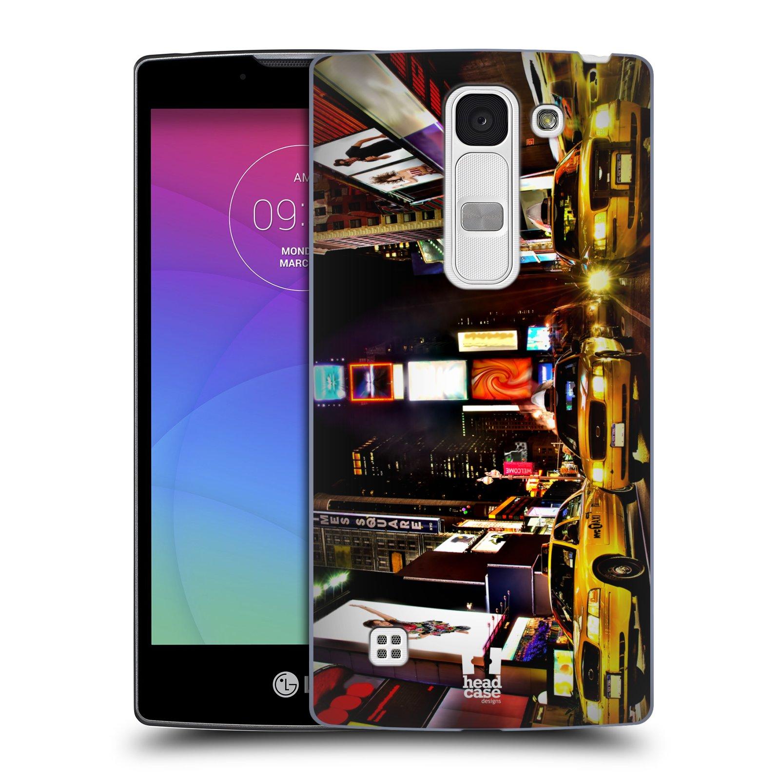 Plastové pouzdro na mobil LG Spirit LTE HEAD CASE NEW YORK TIMES SQUARE (Kryt či obal na mobilní telefon LG Spirit H420 a LG Spirit LTE H440N)