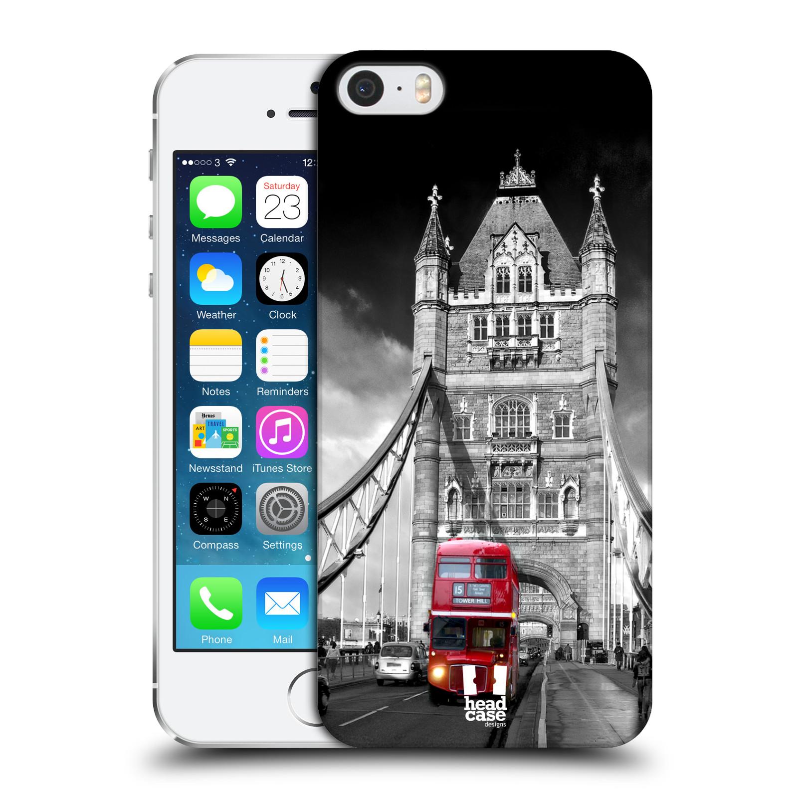 Plastové pouzdro na mobil Apple iPhone SE, 5 a 5S HEAD CASE MOST V LONDÝNĚ