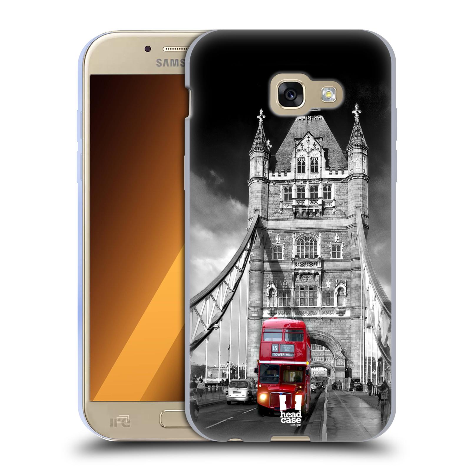 Silikonové pouzdro na mobil Samsung Galaxy A5 (2017) HEAD CASE MOST V LONDÝNĚ