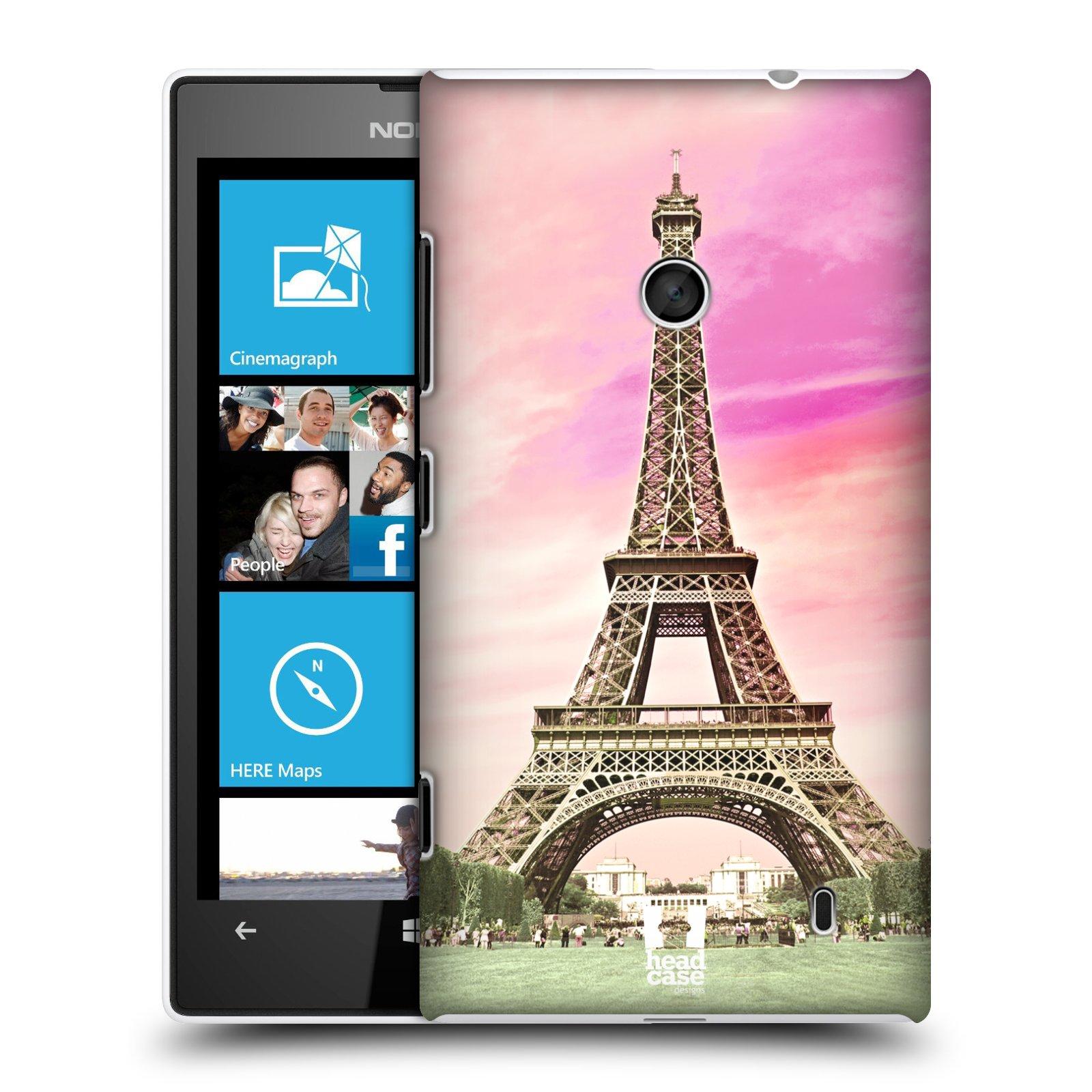 Plastové pouzdro na mobil Nokia Lumia 520 HEAD CASE RŮŽOVÁ AIFELOVKA (Kryt či obal na mobilní telefon Nokia Lumia 520 )