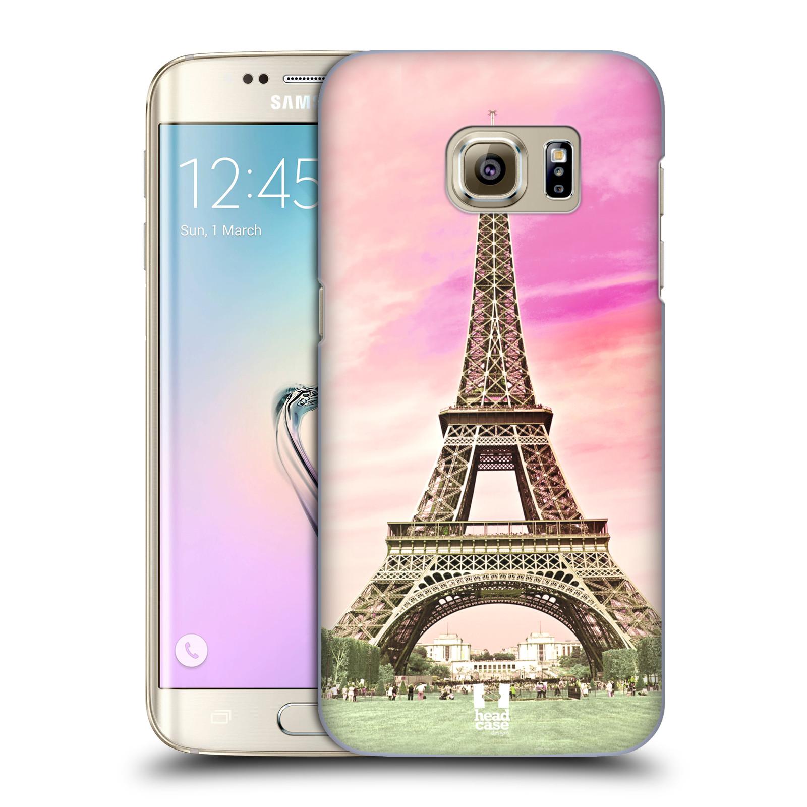 Plastové pouzdro na mobil Samsung Galaxy S7 Edge HEAD CASE RŮŽOVÁ AIFELOVKA (Kryt či obal na mobilní telefon Samsung Galaxy S7 Edge SM-G935F)