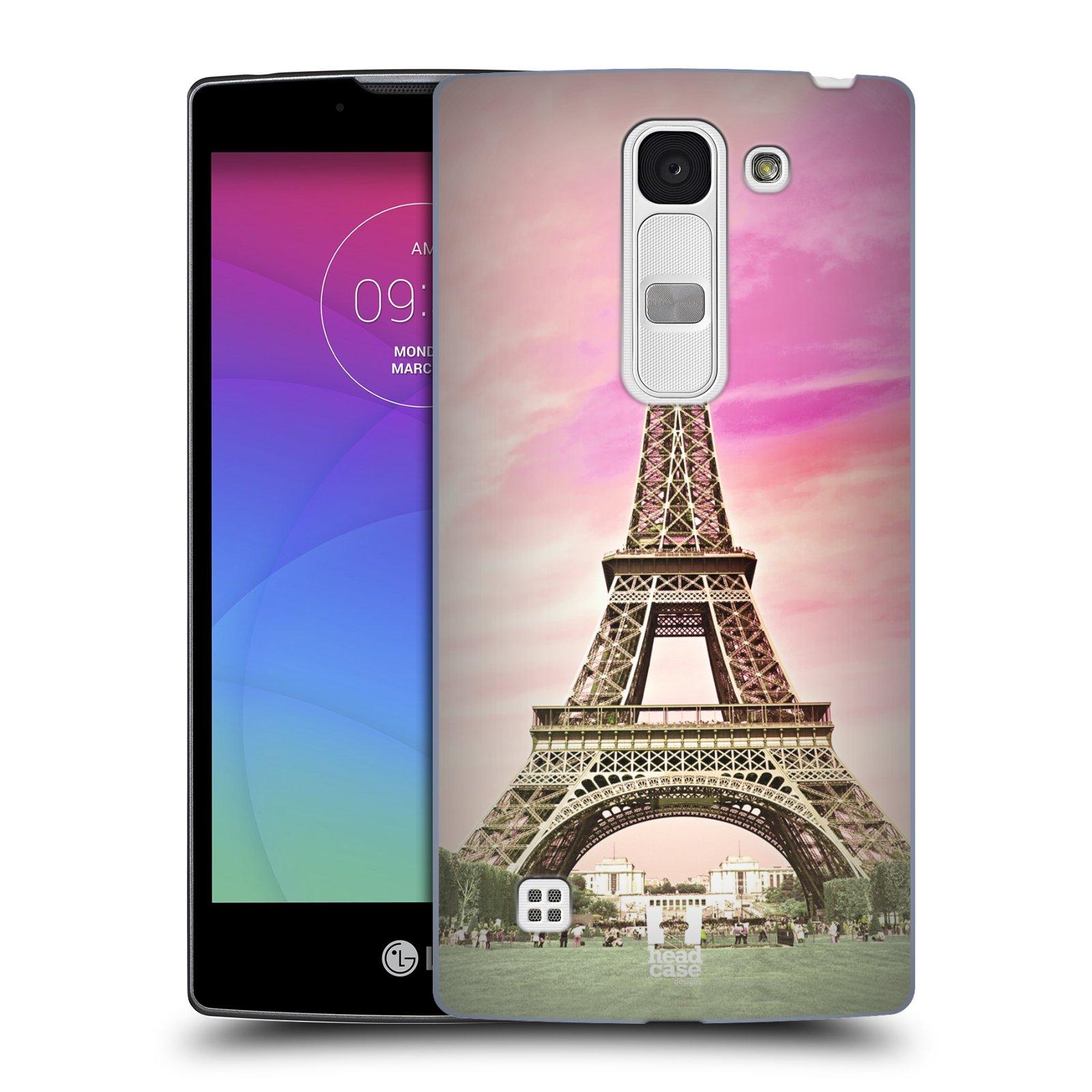 Plastové pouzdro na mobil LG Spirit LTE HEAD CASE RŮŽOVÁ AIFELOVKA (Kryt či obal na mobilní telefon LG Spirit H420 a LG Spirit LTE H440N)