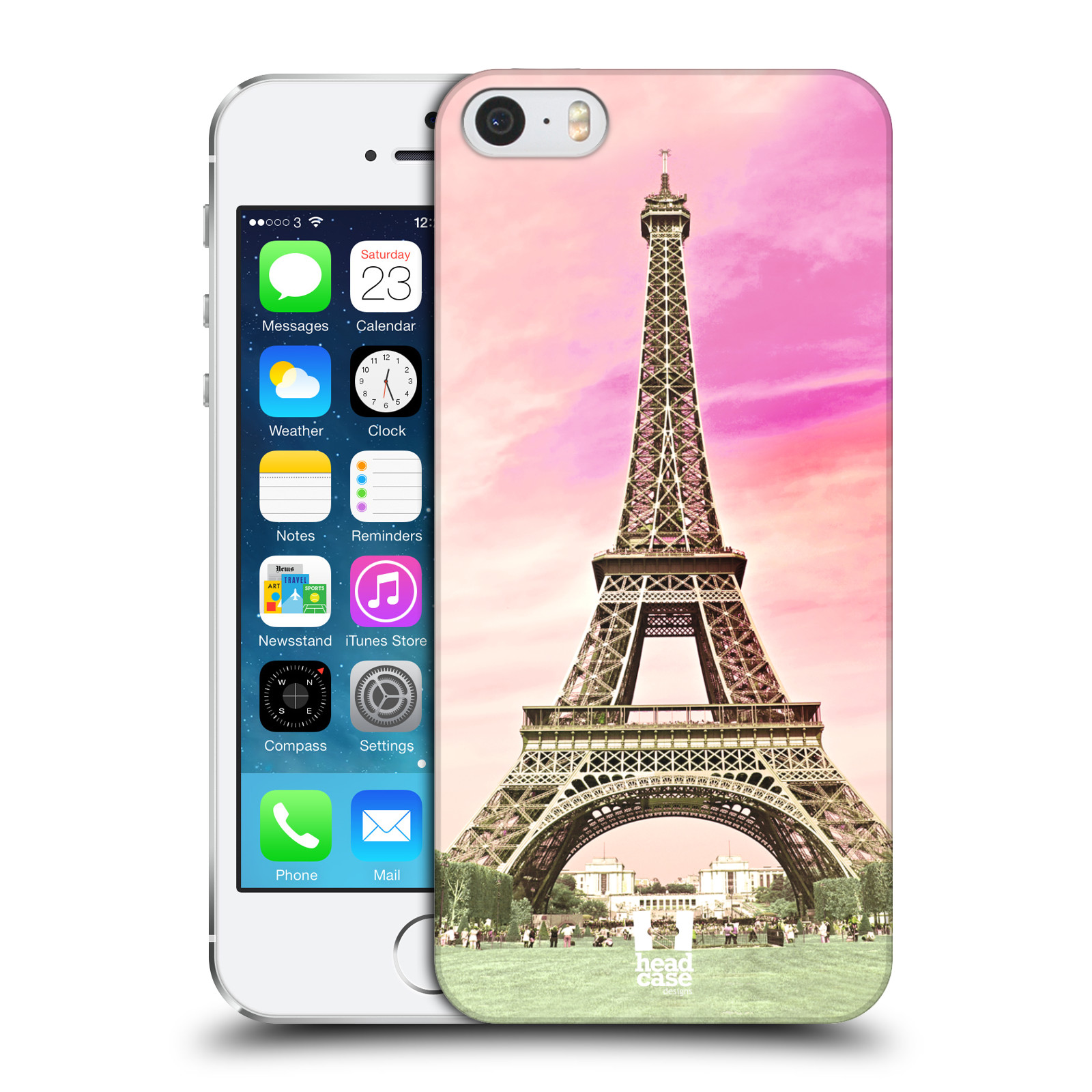 Plastové pouzdro na mobil Apple iPhone SE, 5 a 5S HEAD CASE RŮŽOVÁ AIFELOVKA