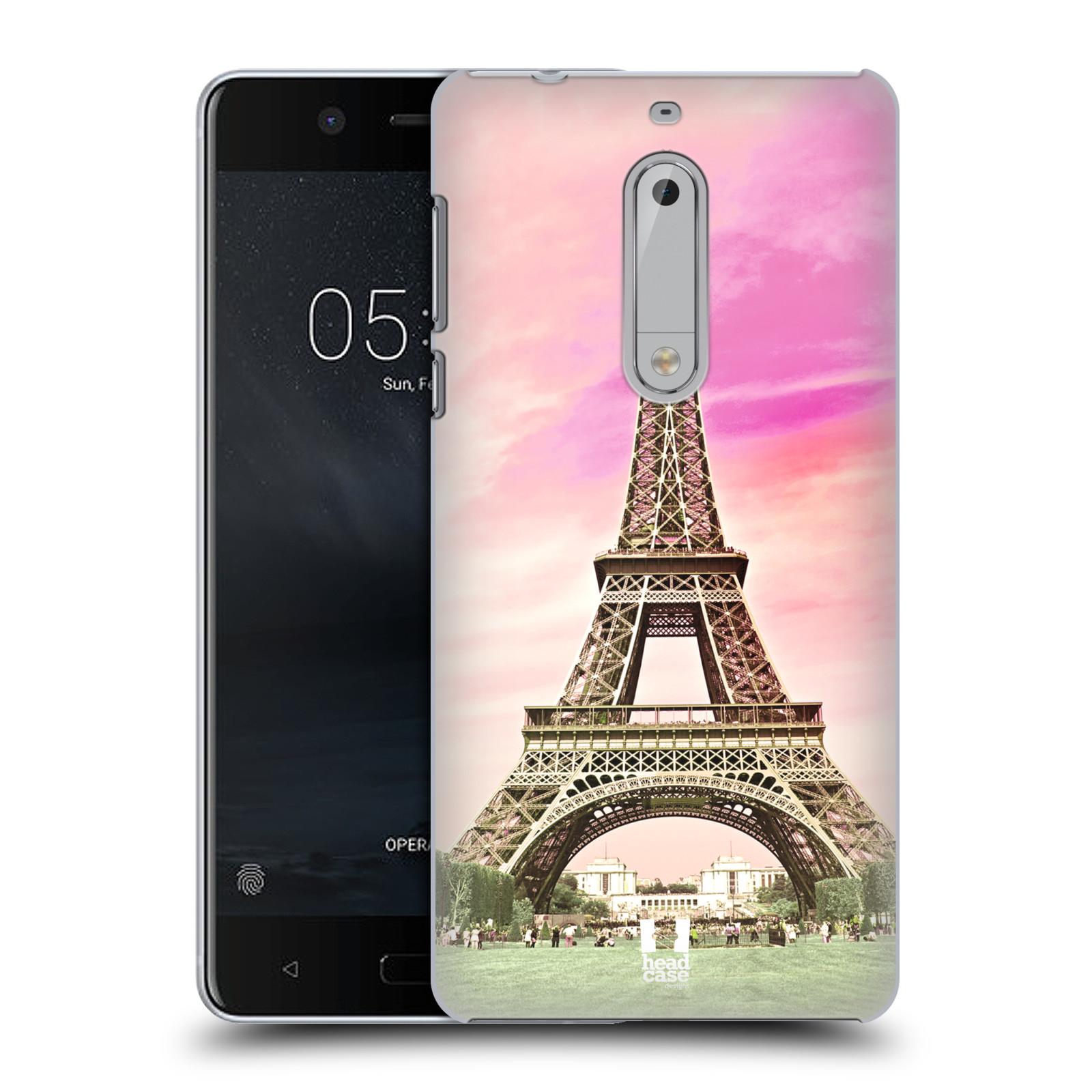 Plastové pouzdro na mobil Nokia 5 Head Case - RŮŽOVÁ AIFELOVKA (Plastový kryt či obal na mobilní telefon Nokia 5 (2017))